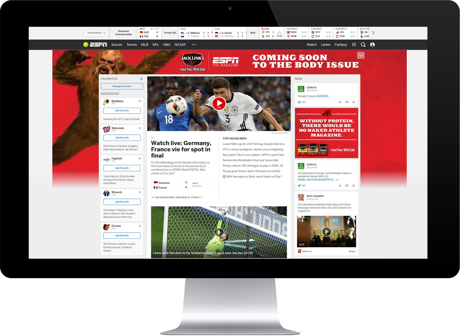 Image Media for Jack Links Sasquatch & ESPN: The Body Issue