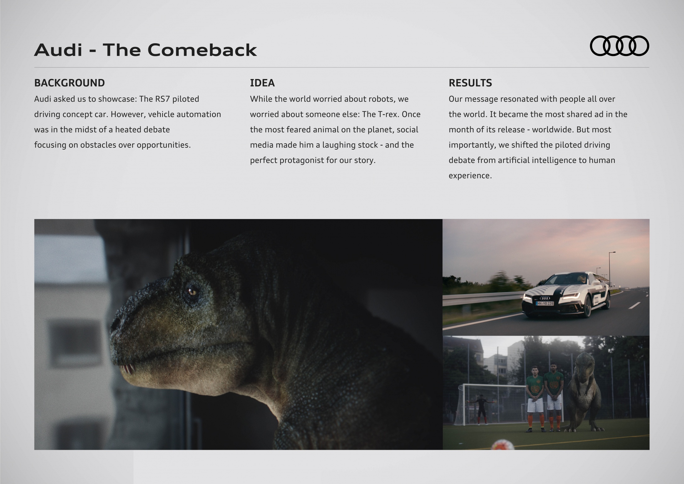 Thumbnail for Audi - The Comeback