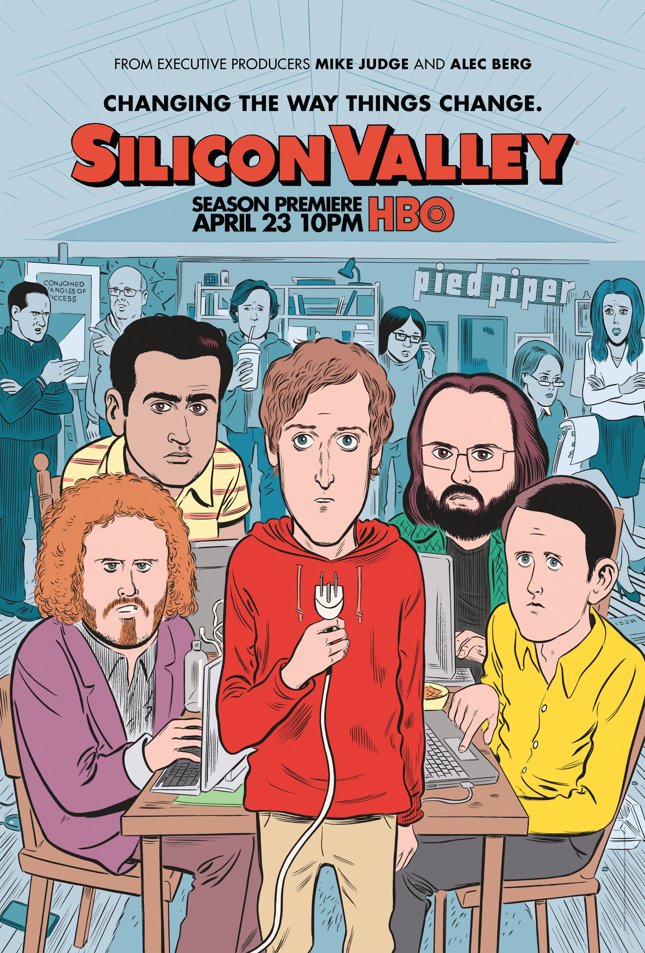 Thumbnail for Silicon Valley Season 4 Key Art