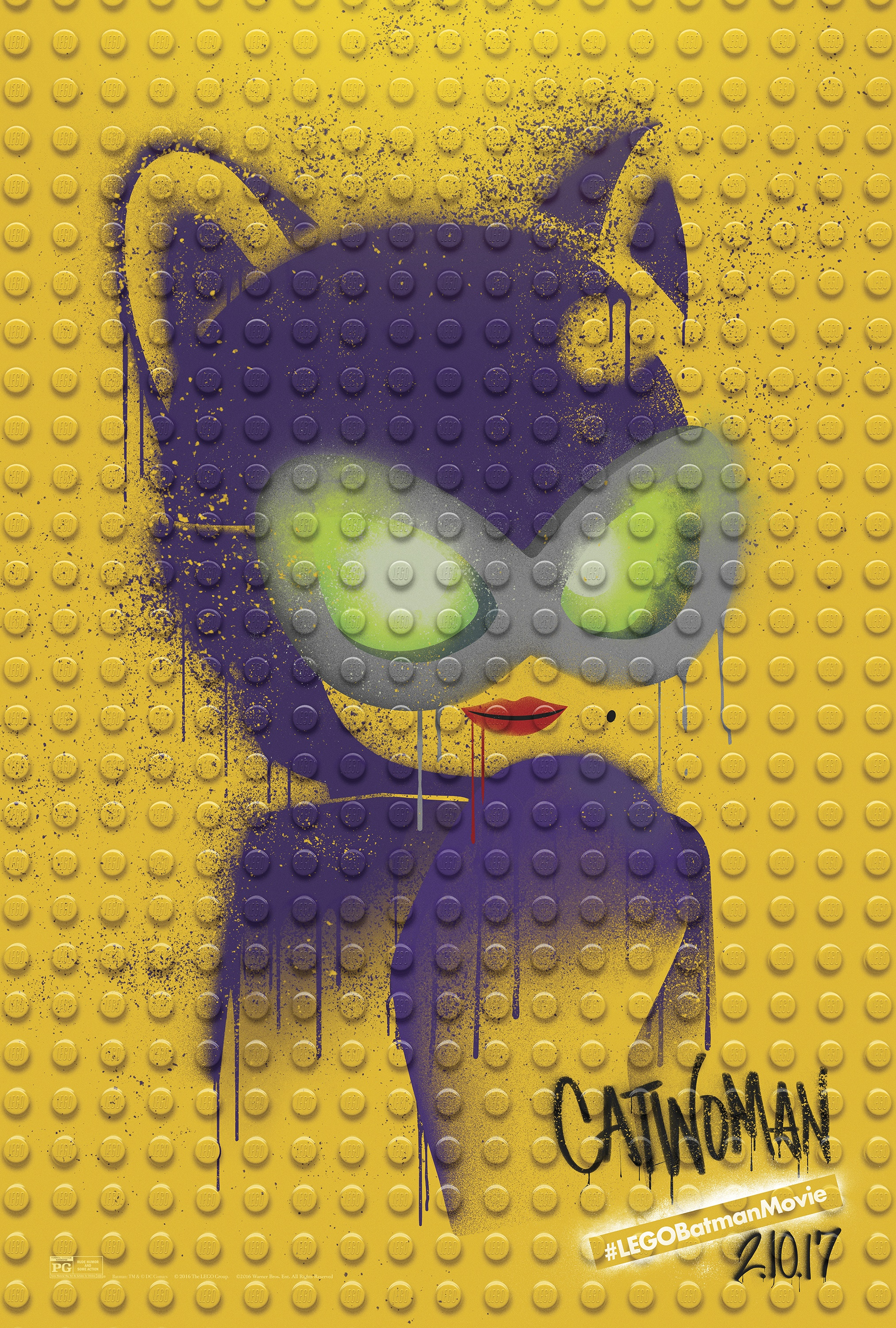 Thumbnail for The LEGO Batman Movie - Graffiti Wild Postings | Catwoman