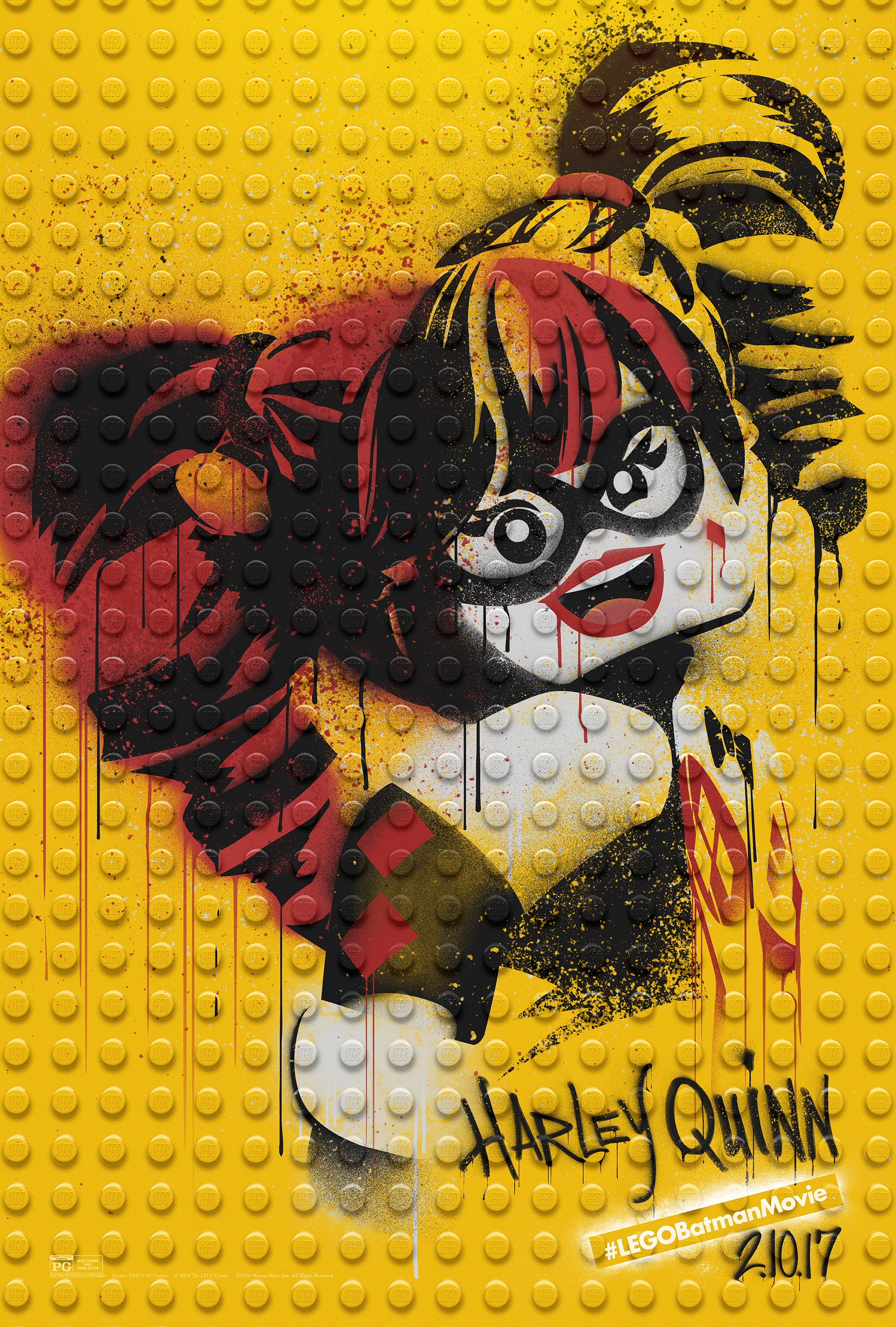 Thumbnail for The LEGO Batman Movie - Graffiti Wild Postings | Harley Quinn