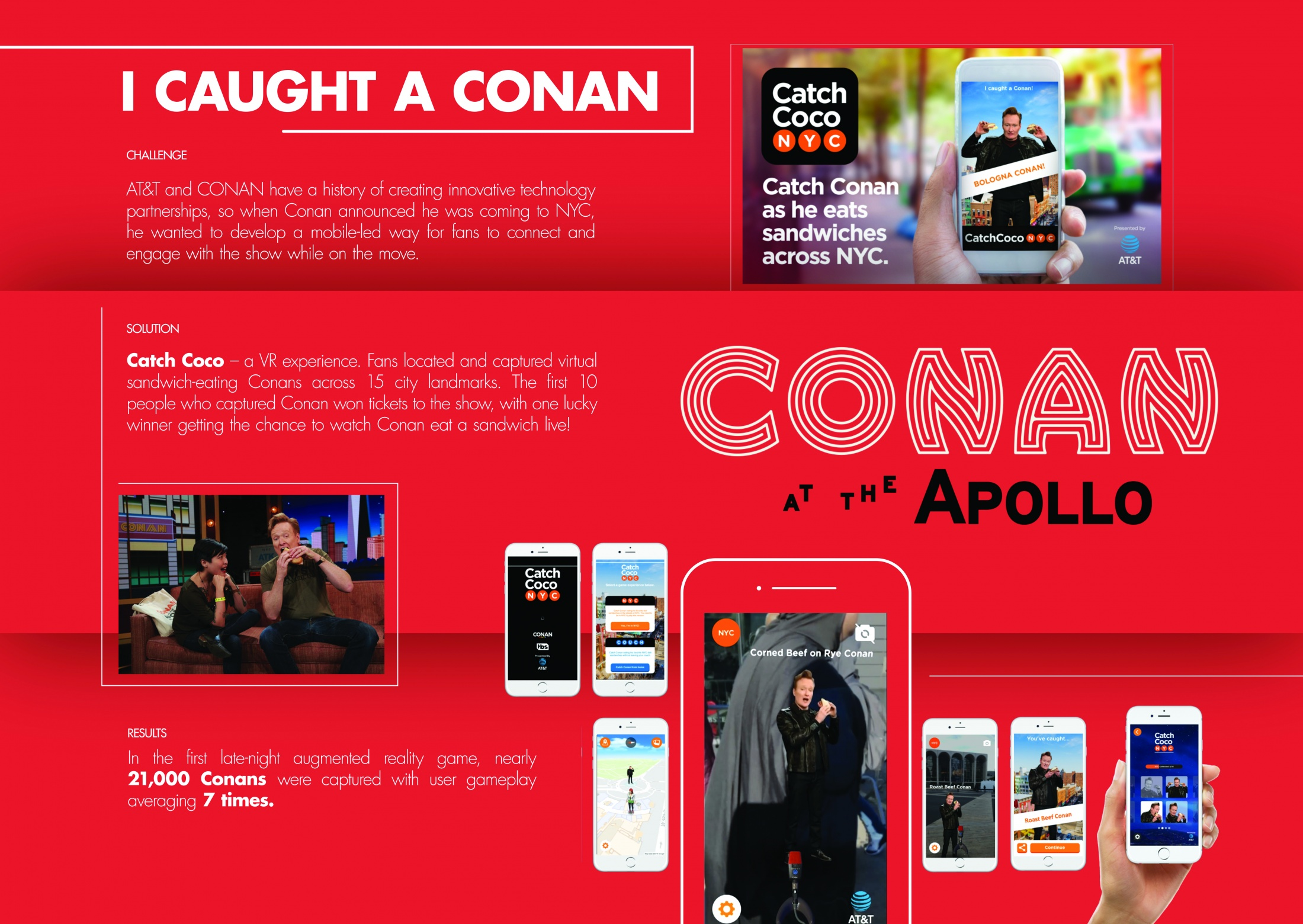 Thumbnail for AT&T and Conan in NYC: Catch Coco App