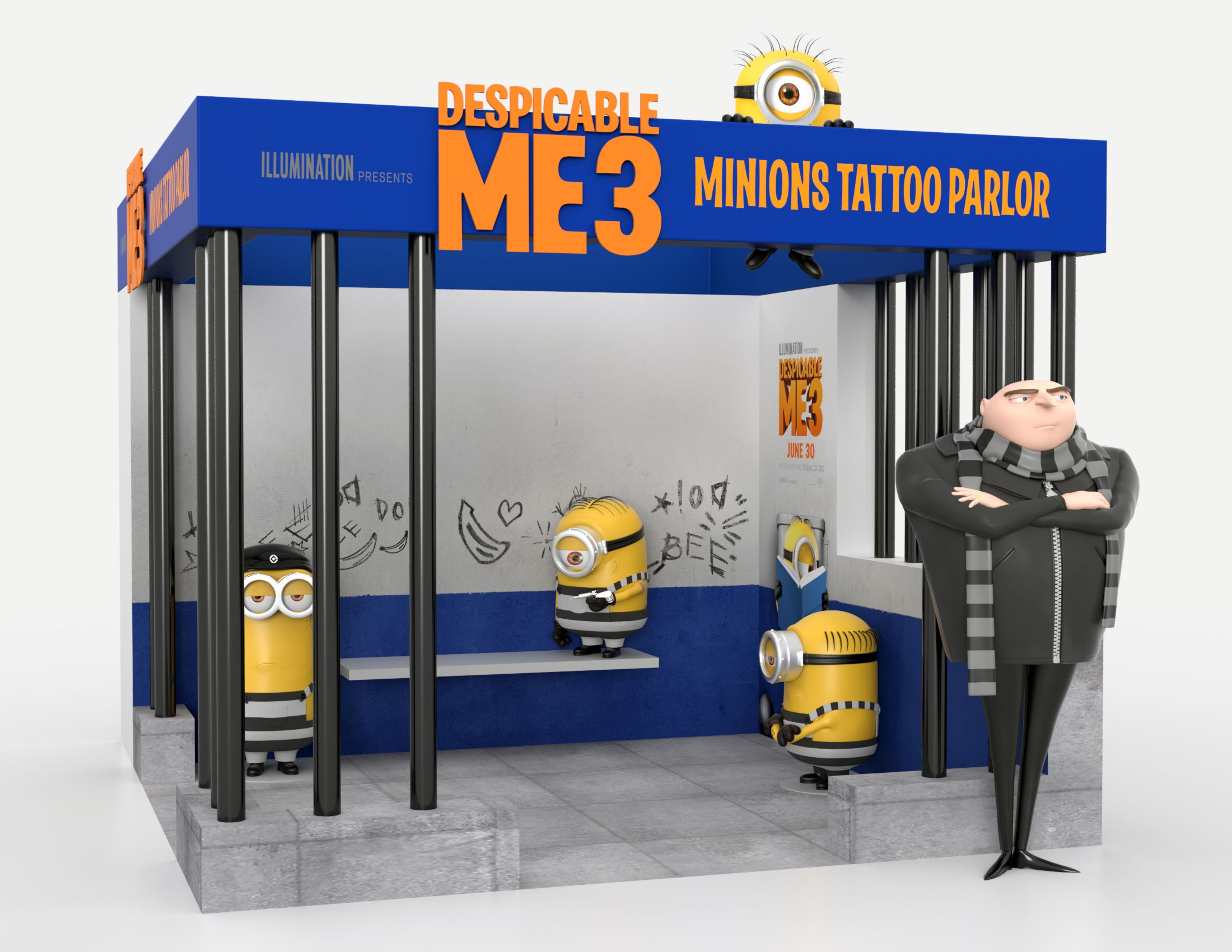 Thumbnail for Despicable Me 3 Tattoo Parlor Theatrical Display: Specialty