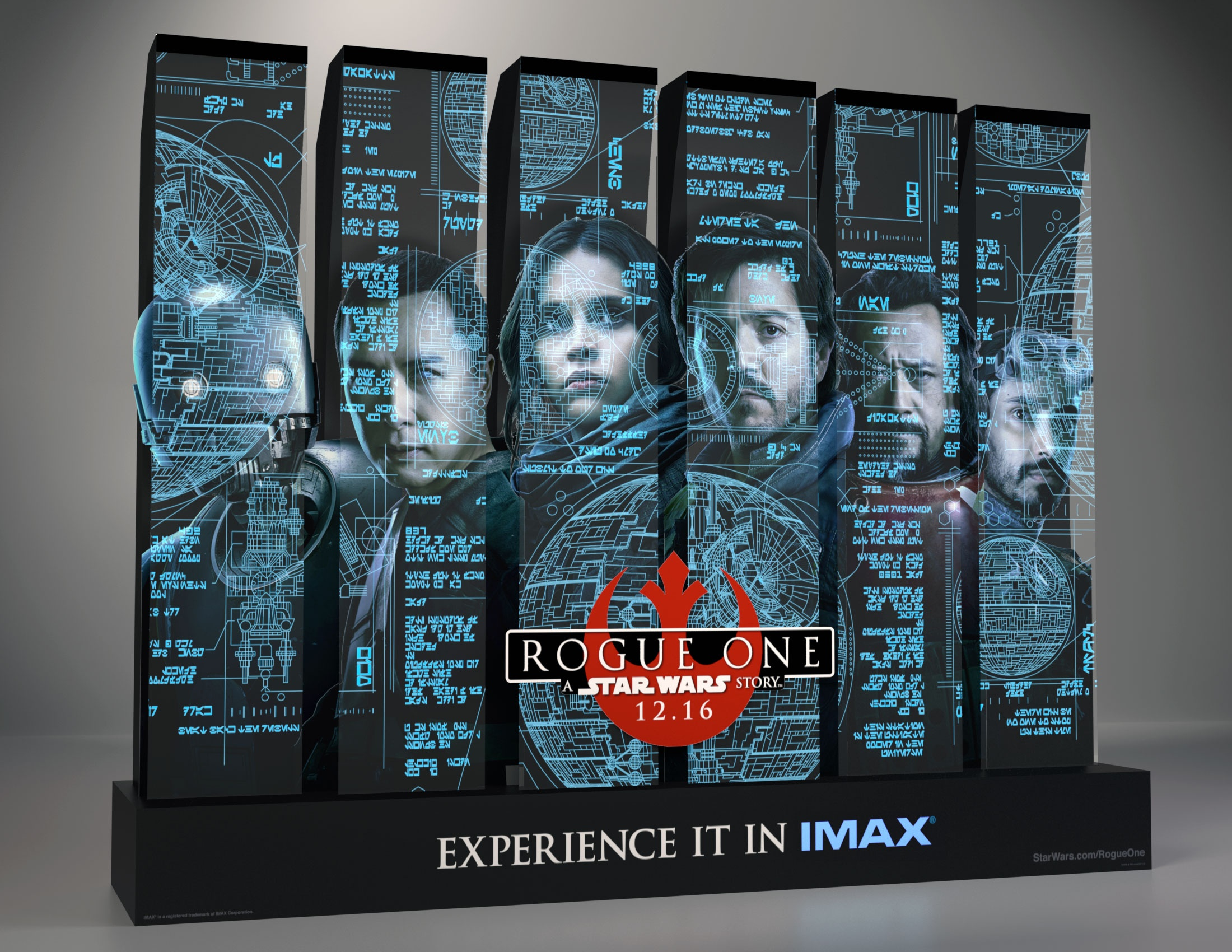 Image Media for Rogue One: A Star Wars Story Acrylic Theatrical Display