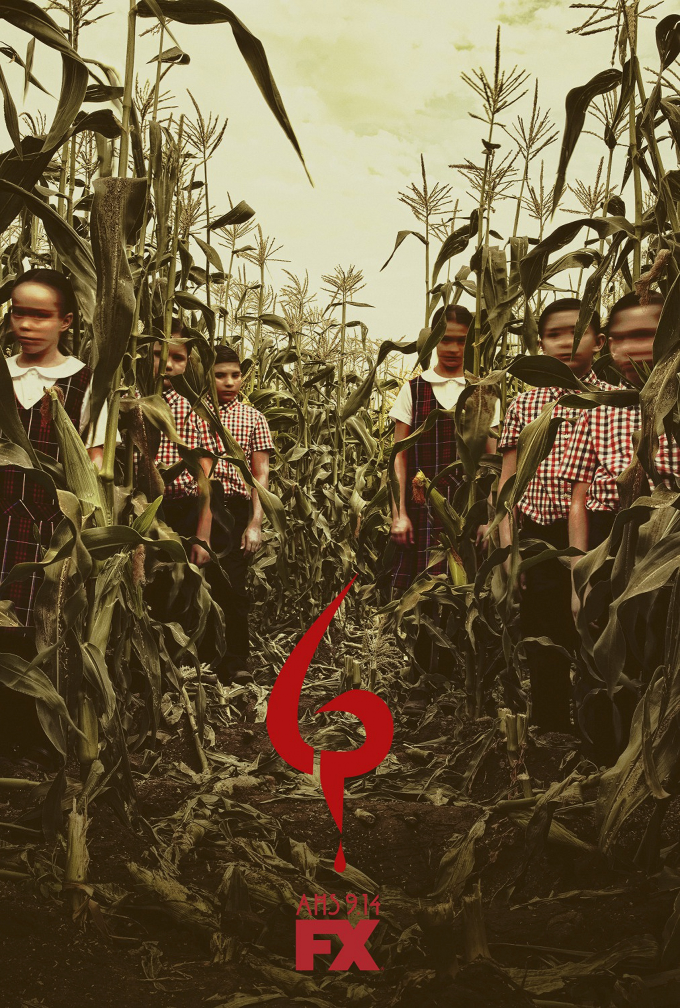 Thumbnail for American Horror Story - Roanoke teaser bus shelter (children of the corn)