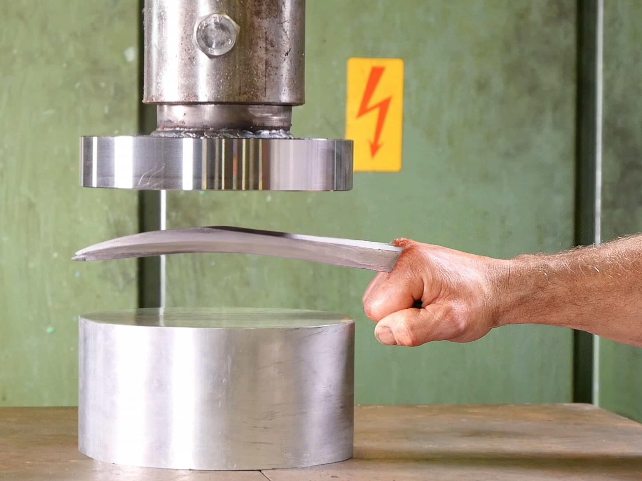 Thumbnail for Crushing Adamantium with Hydraulic Press