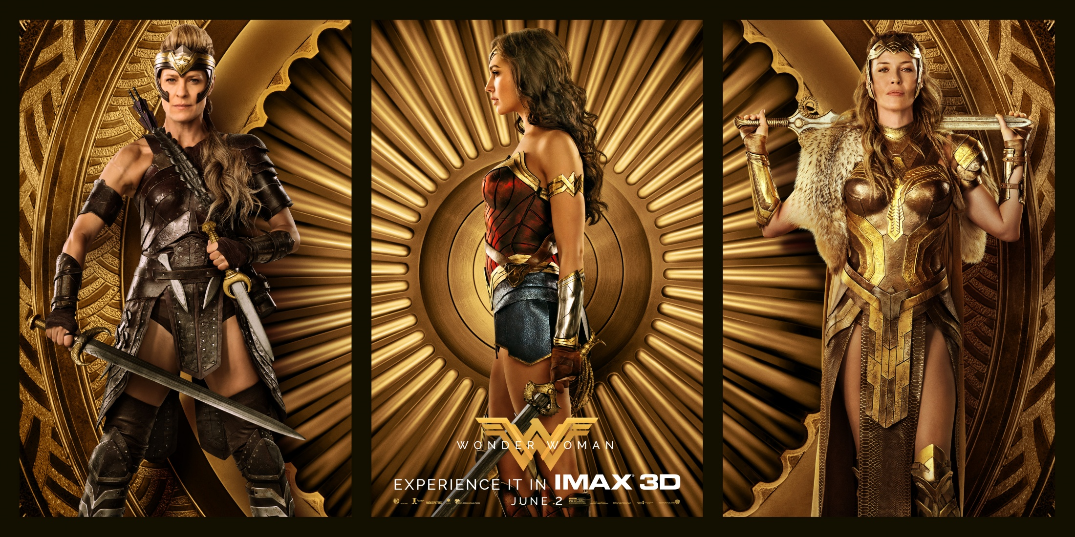Thumbnail for Wonder Woman Triptych One-Sheet
