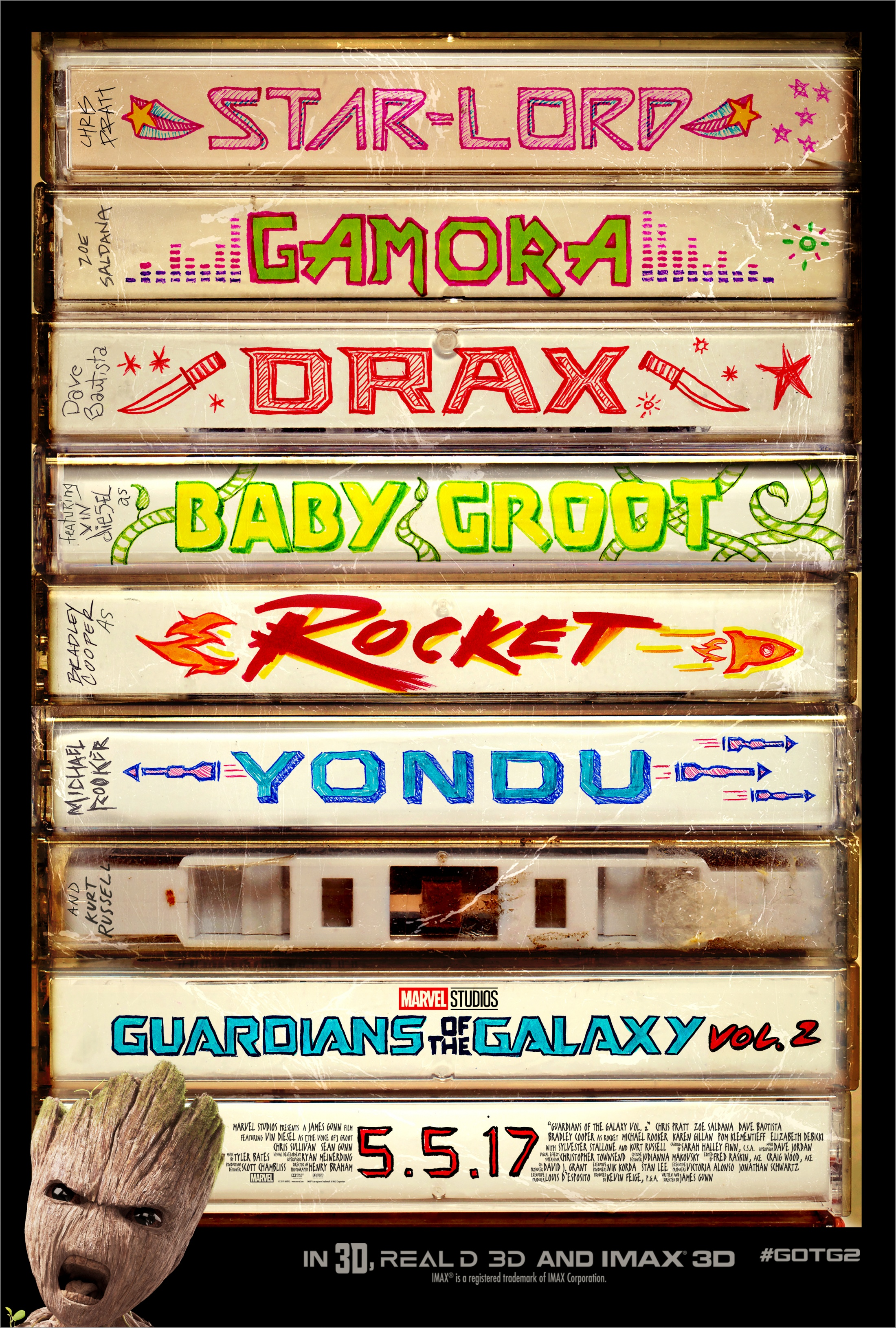 Thumbnail for Guardians of the Galaxy Vol 2 One Sheet