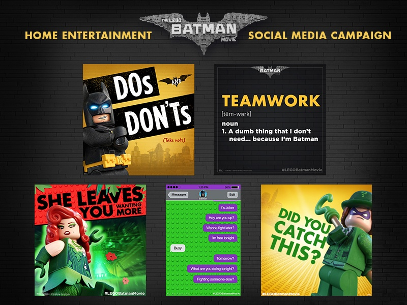 Image Media for Lego Batman Home Ent. Social Campaign