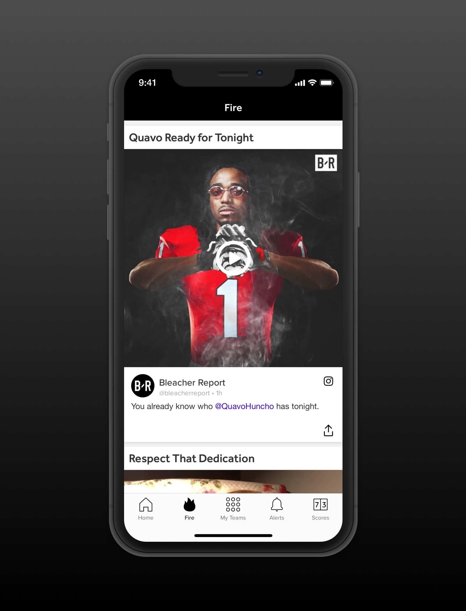 Thumbnail for Bleacher Report App