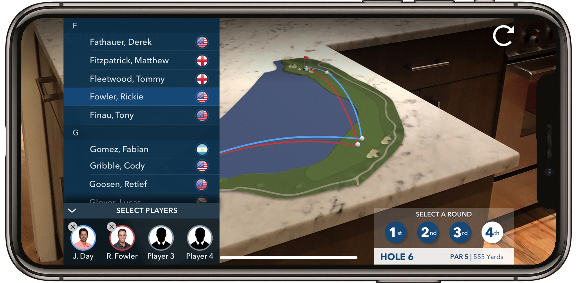 Image Media for PGA TOUR Augmented Reality (AR)