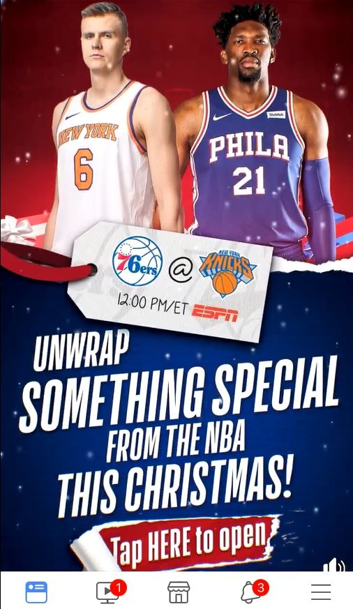 Thumbnail for NBA This Is Why We Play Christmas Canvas Ad - 2017