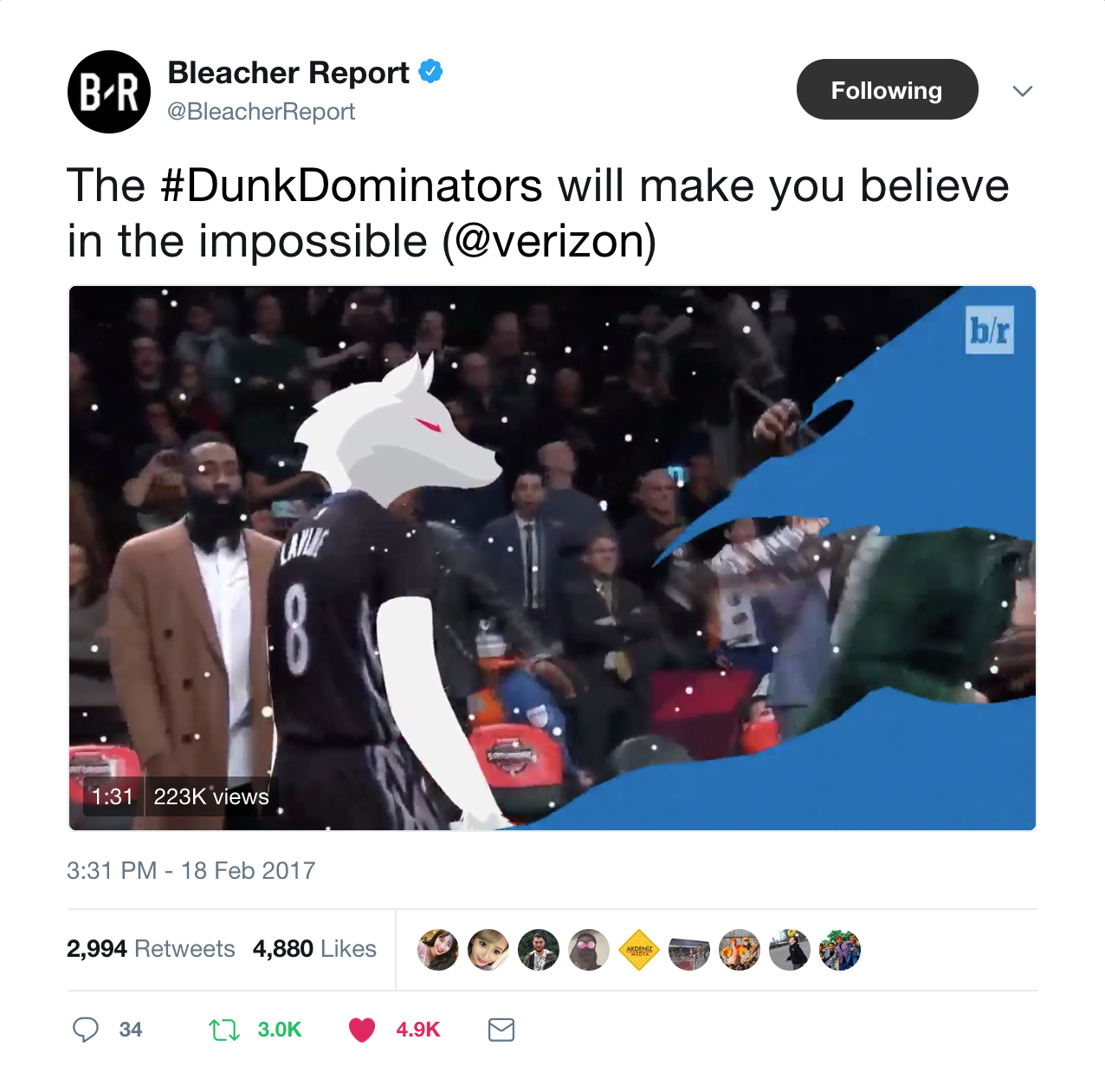 Thumbnail for Bleacher Report NBA Dunk Dominators