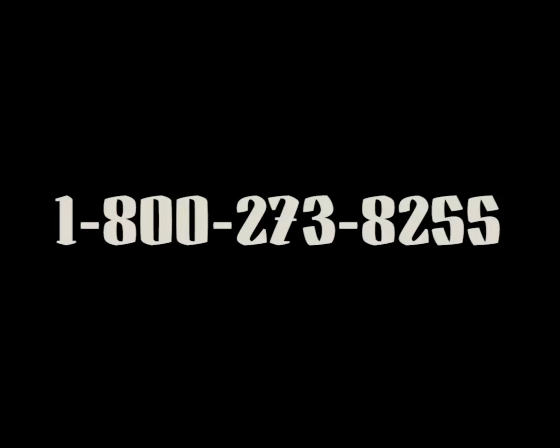 Thumbnail for 1-800-273-8255