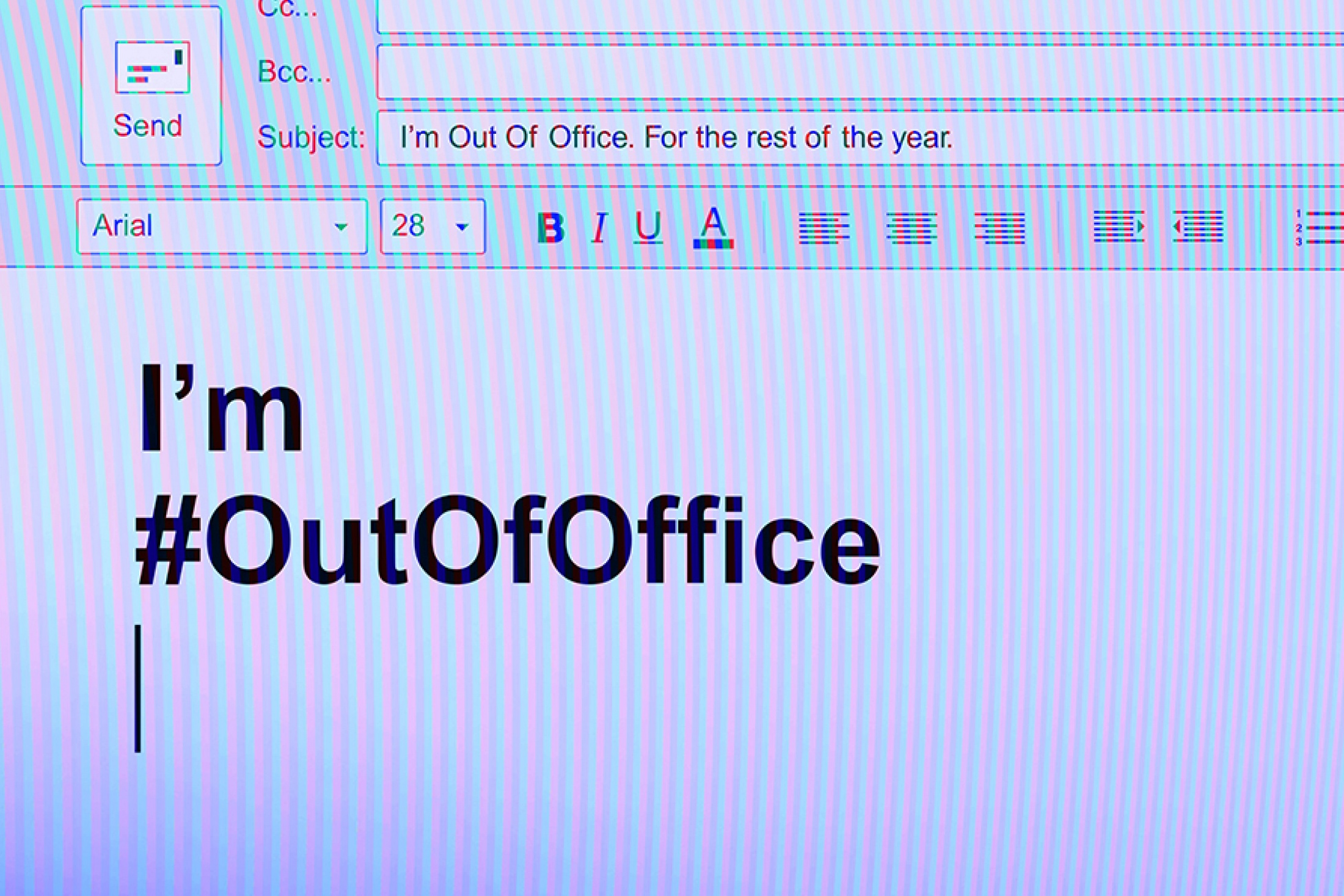 Thumbnail for I'm Out Of Office for equal pay