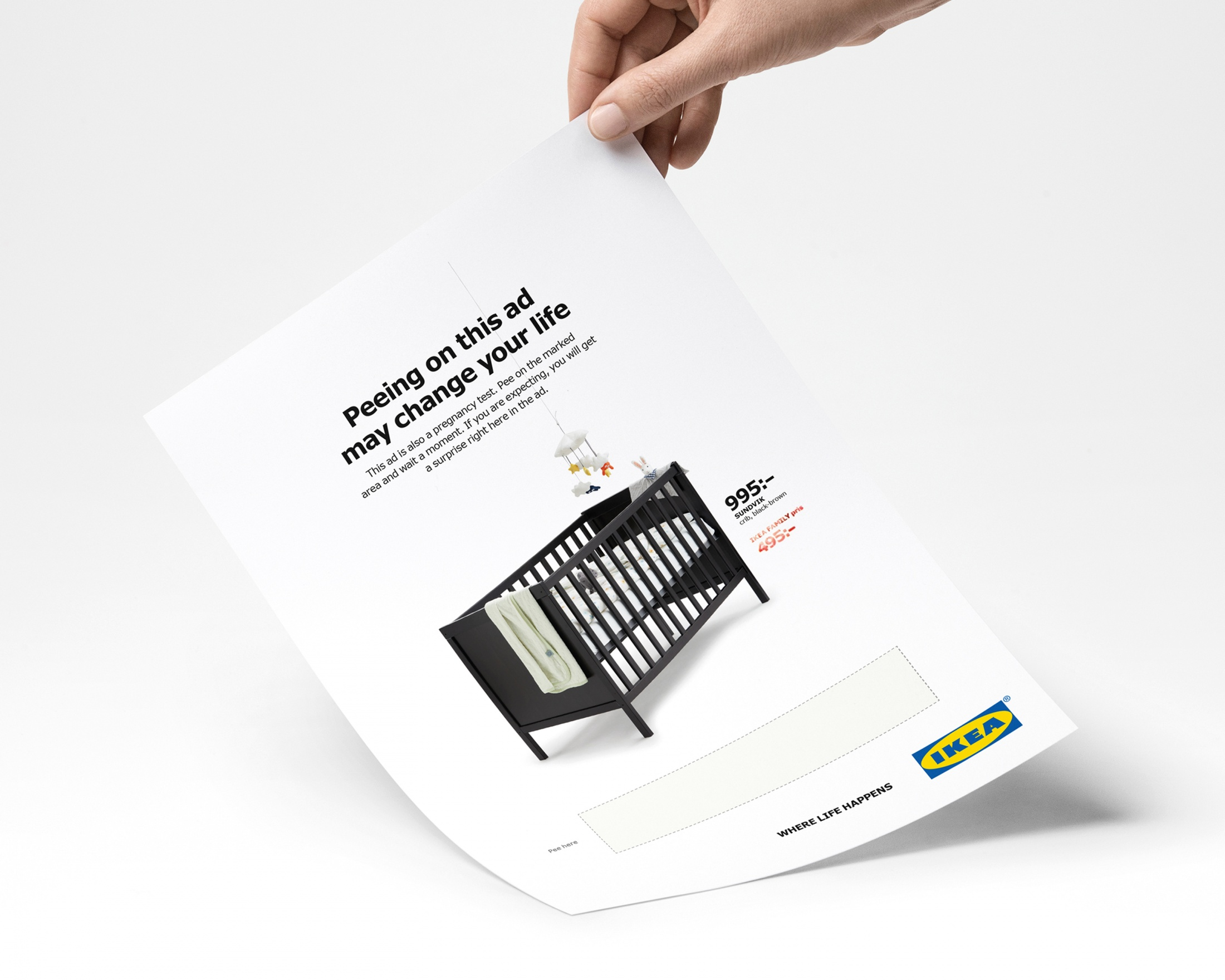 Image Media for IKEA Pee Ad