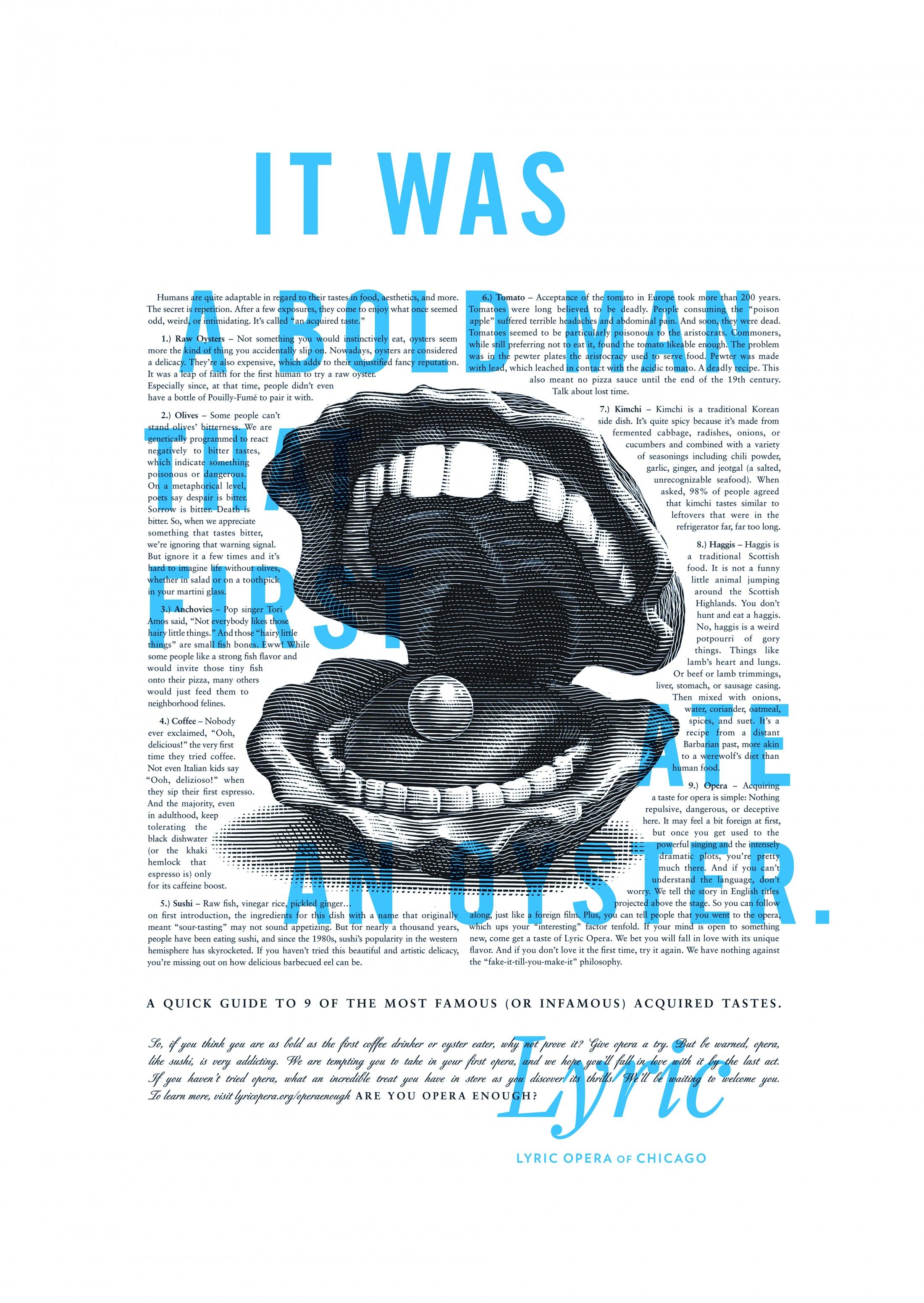 Thumbnail for Lyric Opera Print: Bold Man