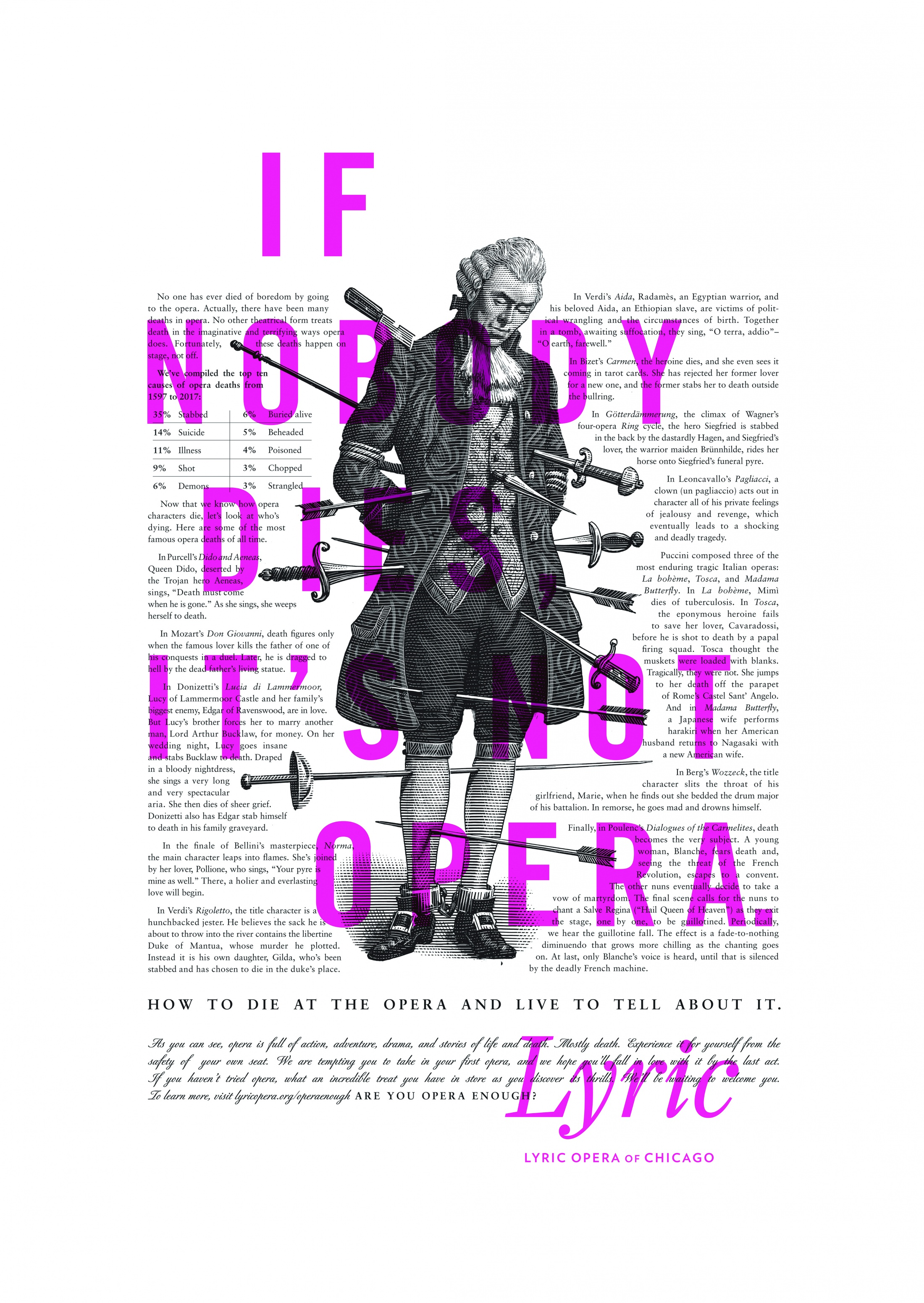 Image Media for Lyric Opera Print Campaign: Deaths
