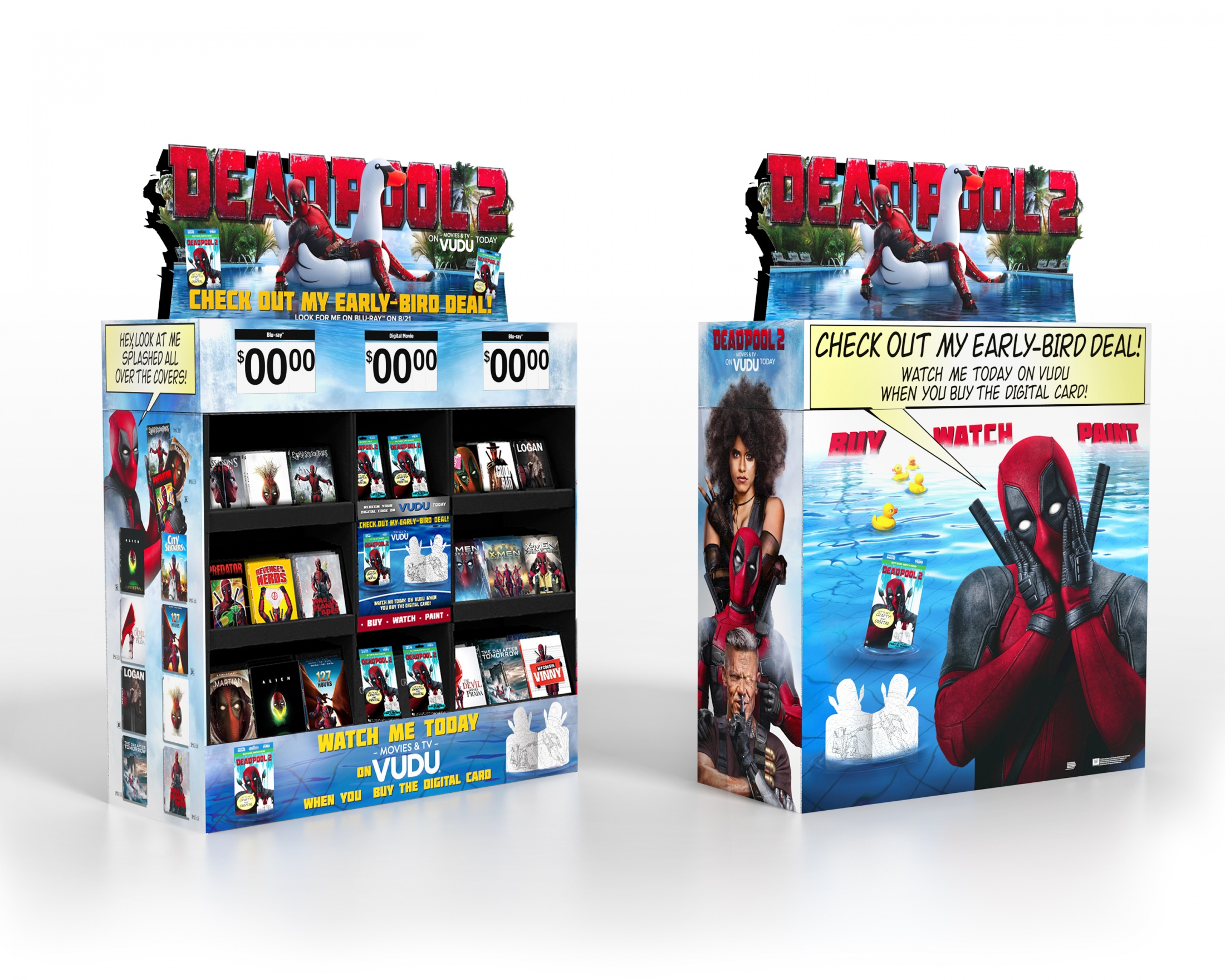 Thumbnail for DEADPOOL 2 Home Entertainment Display: WT1 8/7 Digital Cube