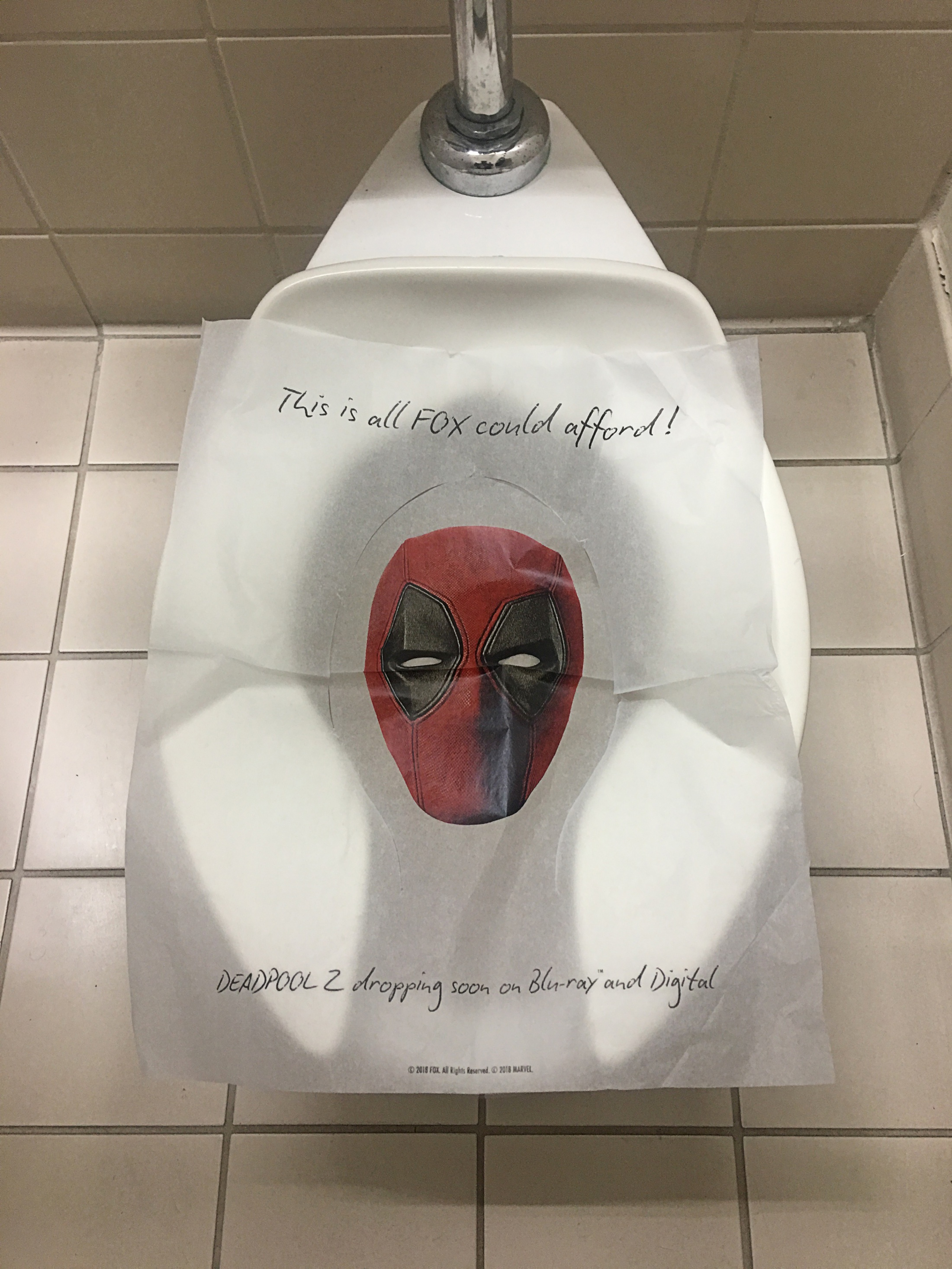 Thumbnail for Deadpool 2 Comic Con Toilet Seat Cover