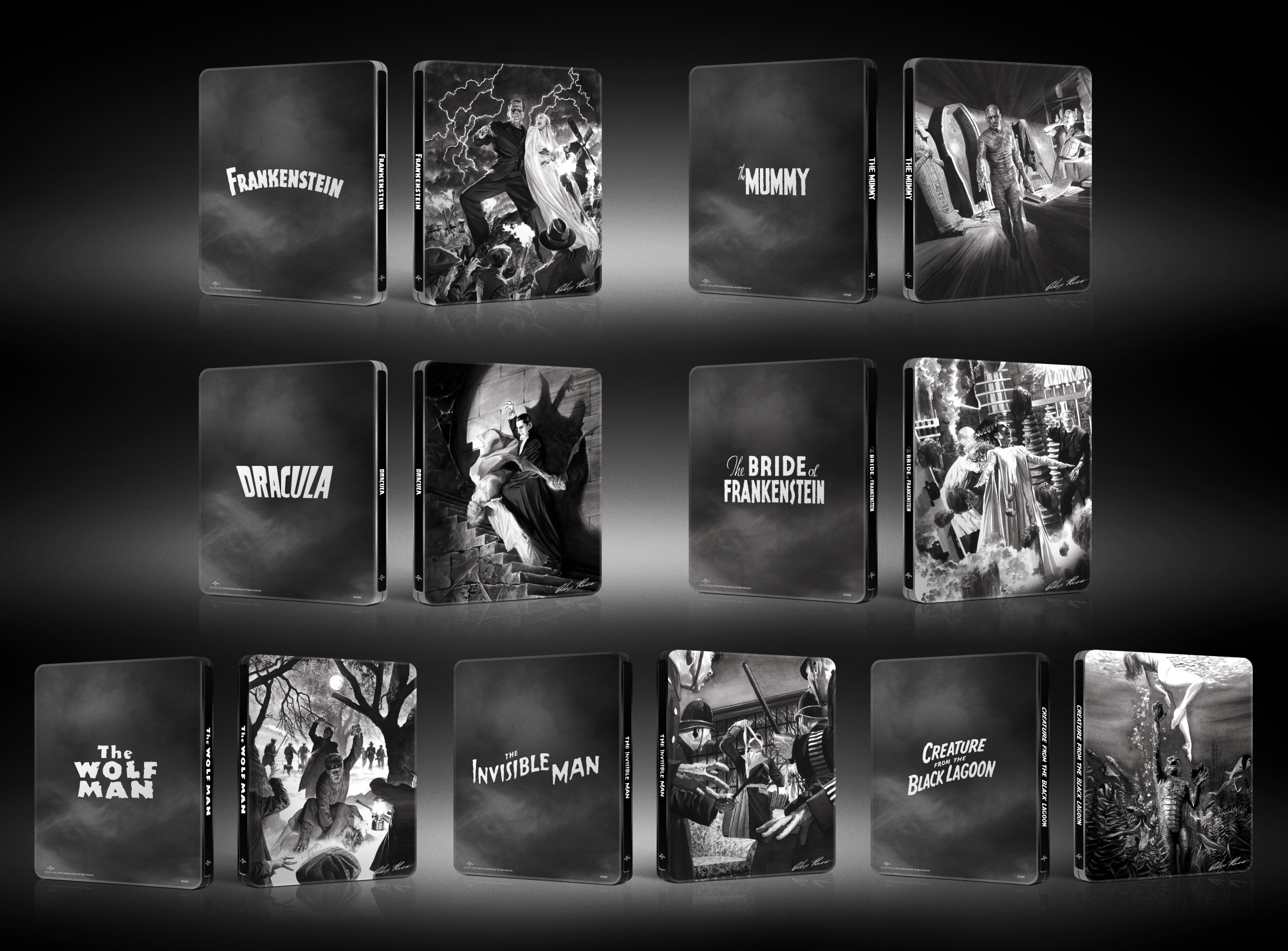 Thumbnail for Alex Ross Classic Monsters Steelbooks