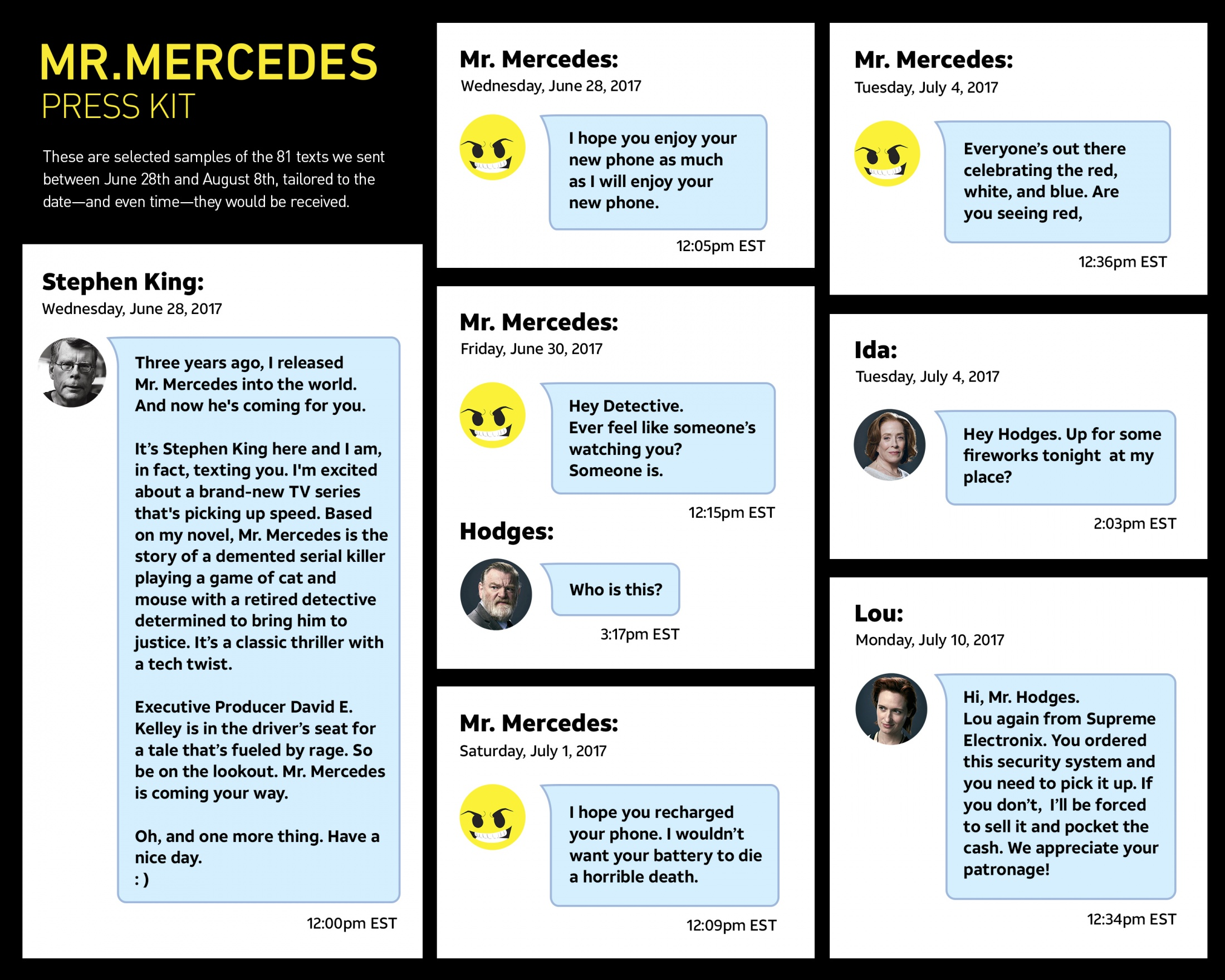 Thumbnail for Mr. Mercedes Press Kit