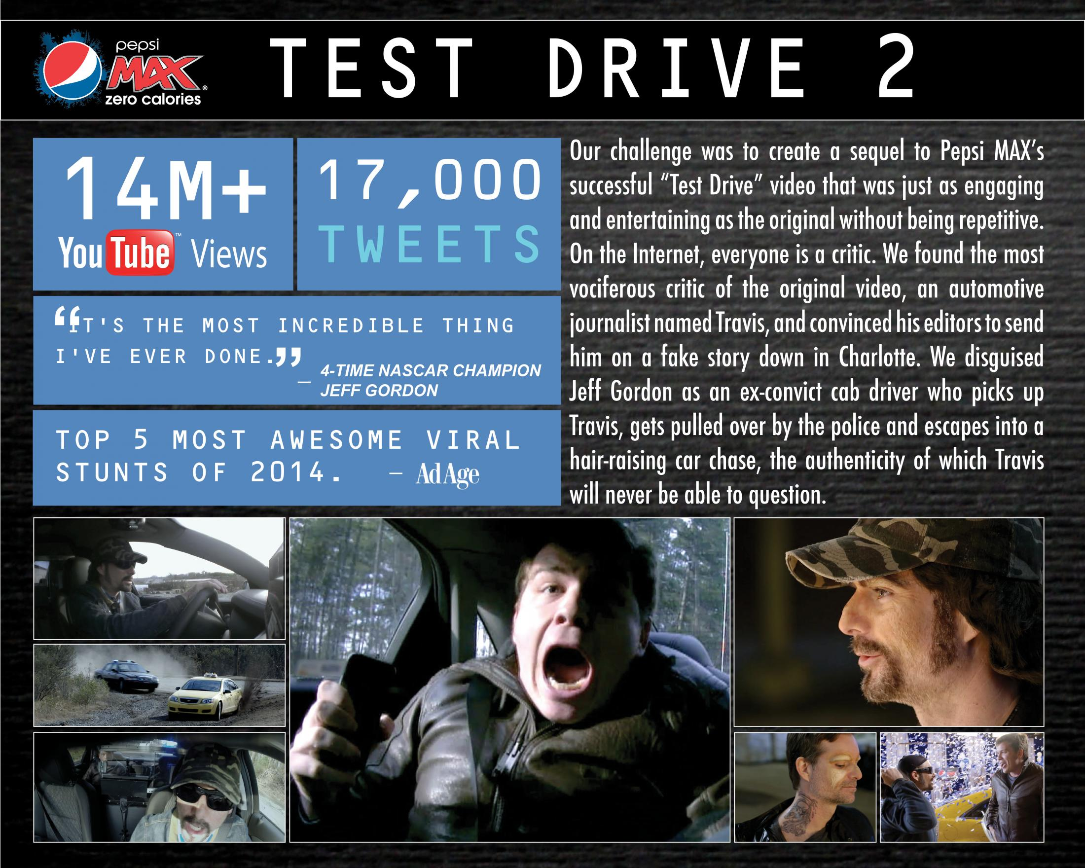 Image Media for Pepsi MAX presents 'Test Drive 2'