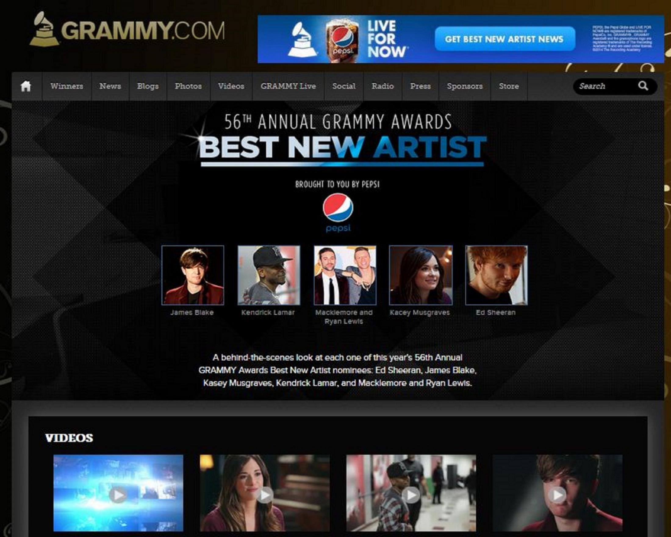 Thumbnail for Best New Artist Series presented by Pepsi