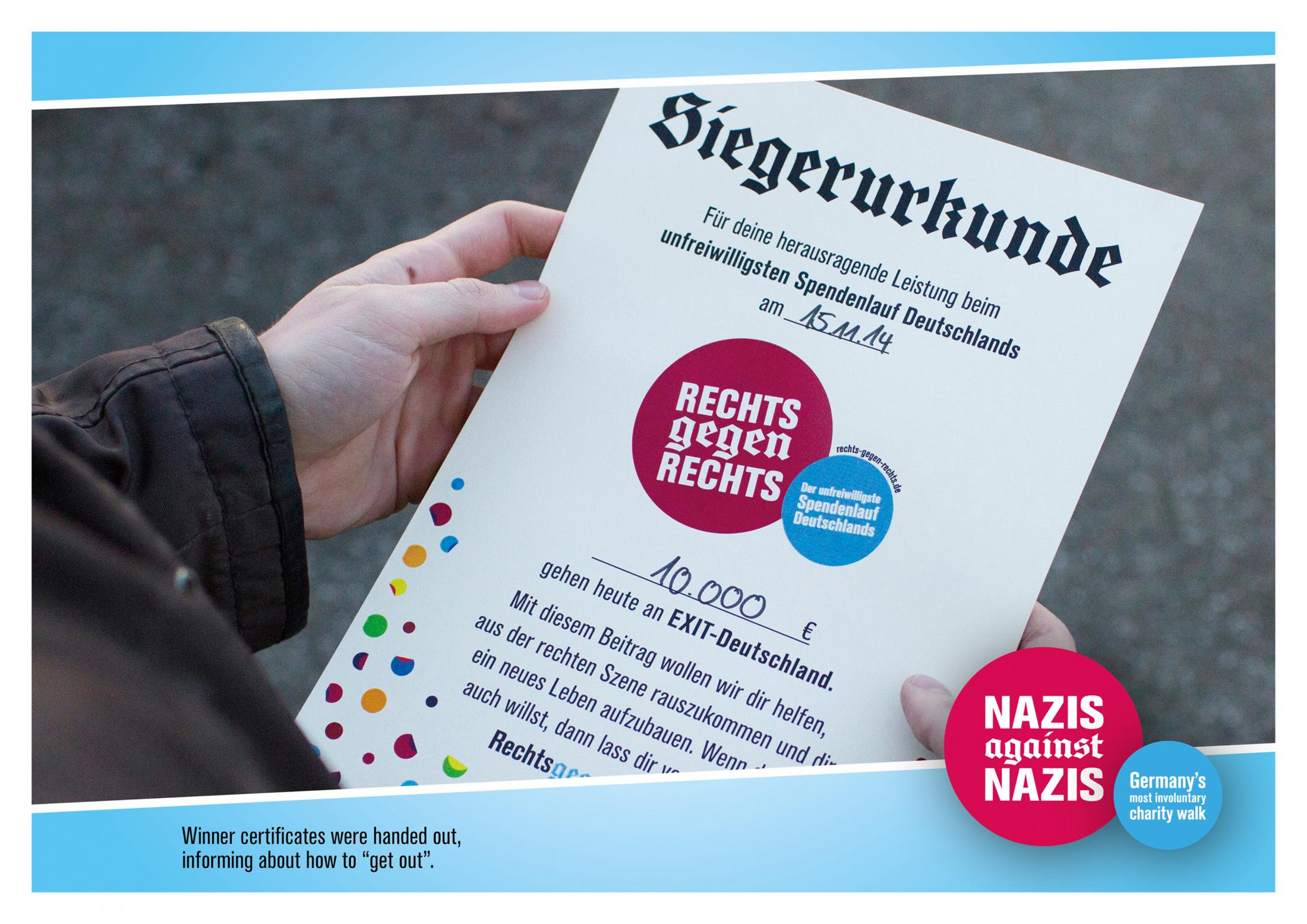 Image Media for Nazis against Nazis- Germany's most involuntary charity walk