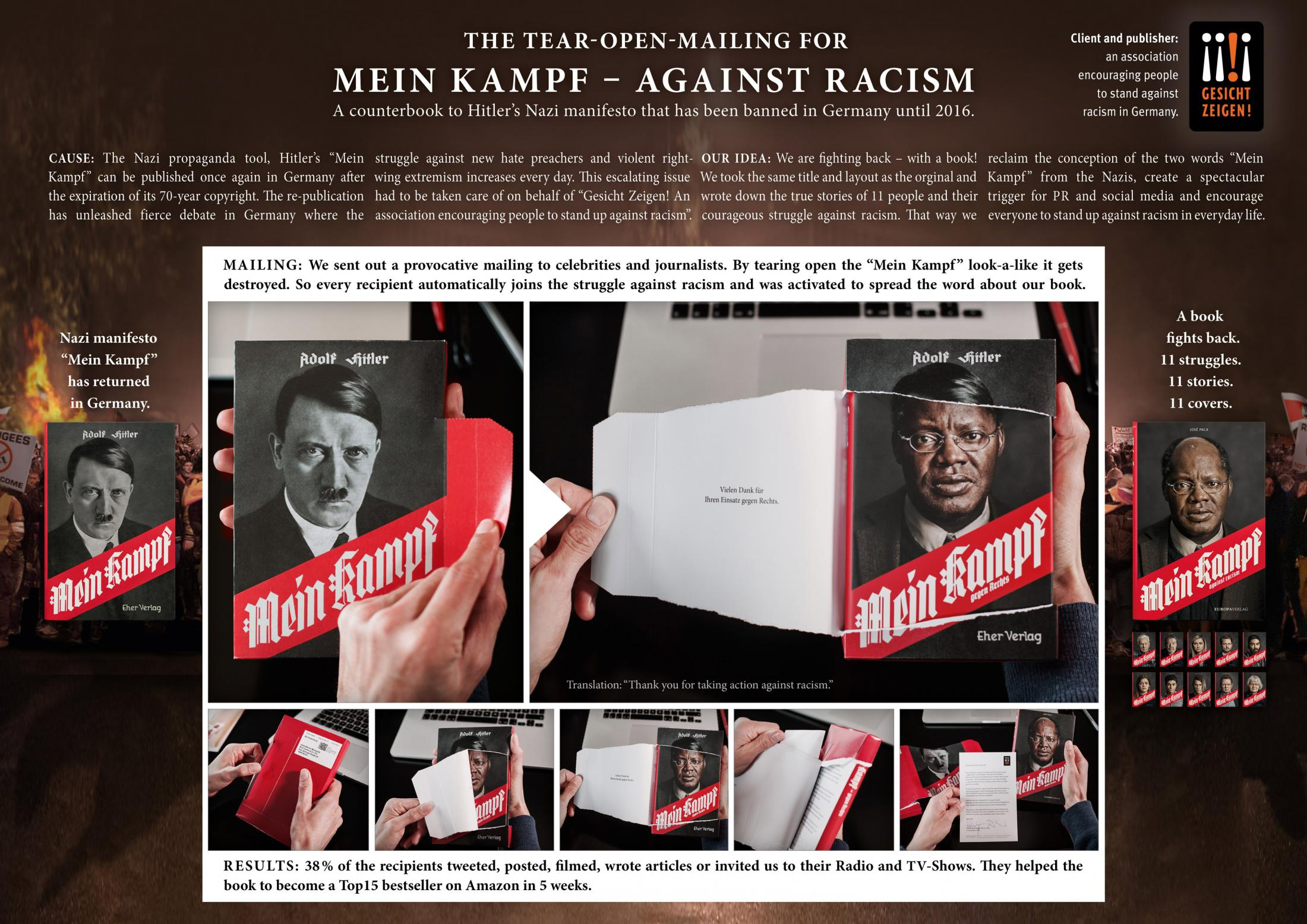"Thumbnail for The Tear-Open-Mailing for ""Mein Kampf – against racism"""