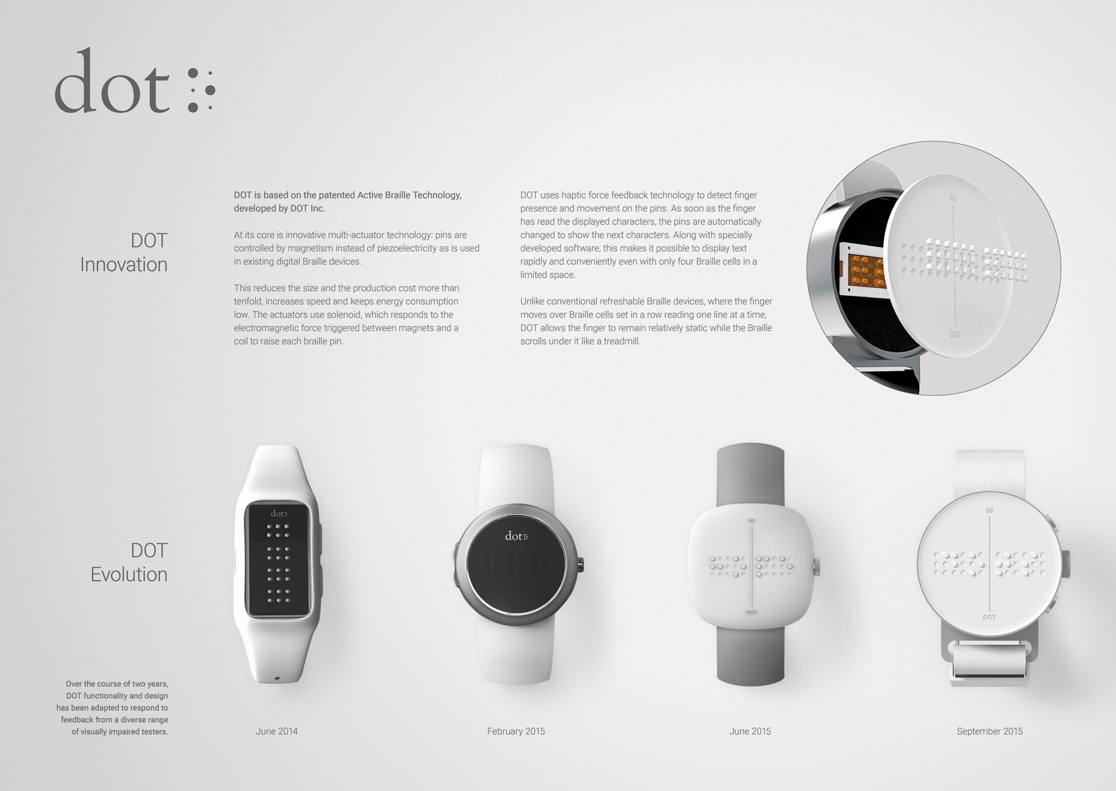Image Media for DOT. The first Braille Smartwatch