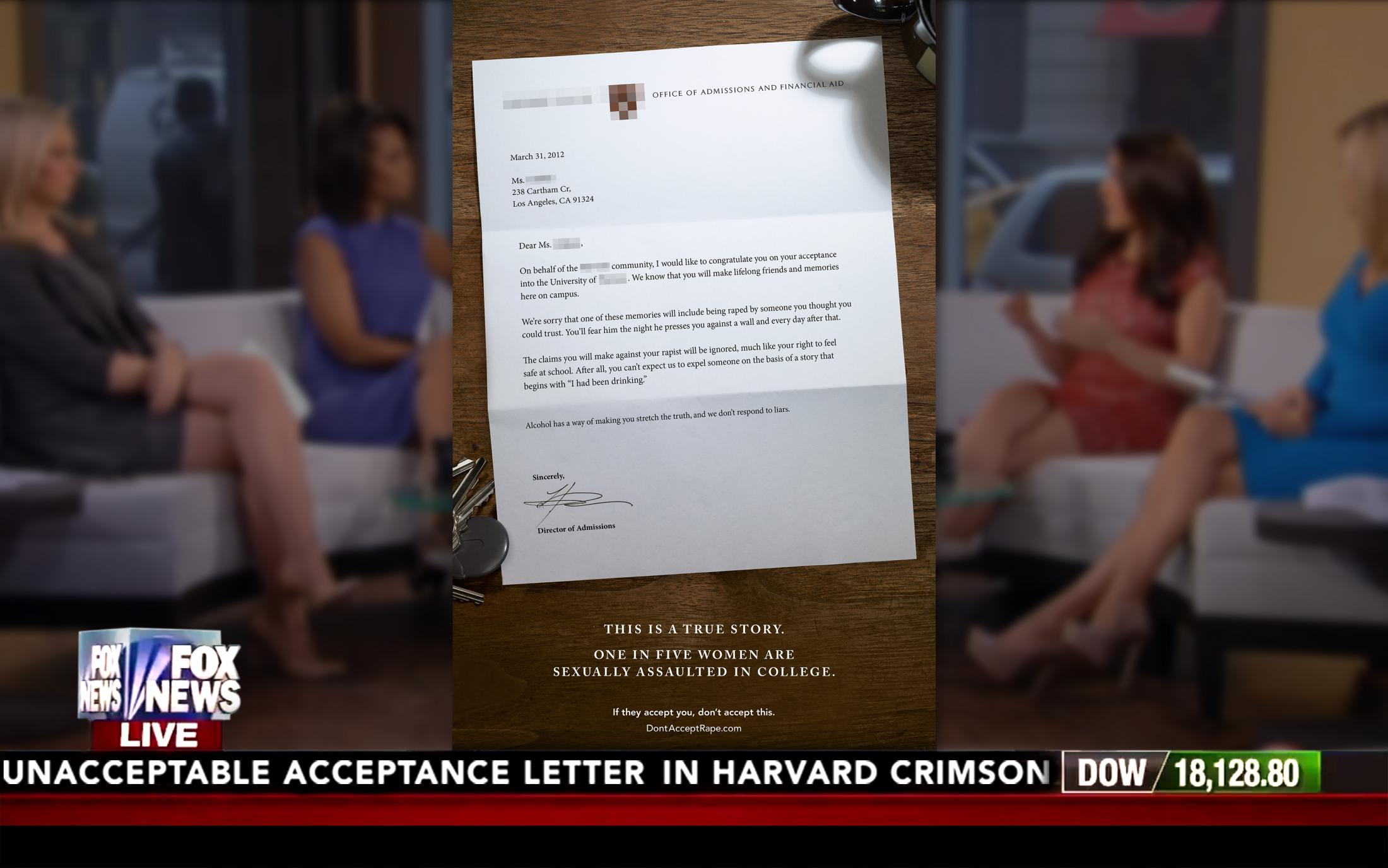 Image Media for Unacceptable Acceptance Letters