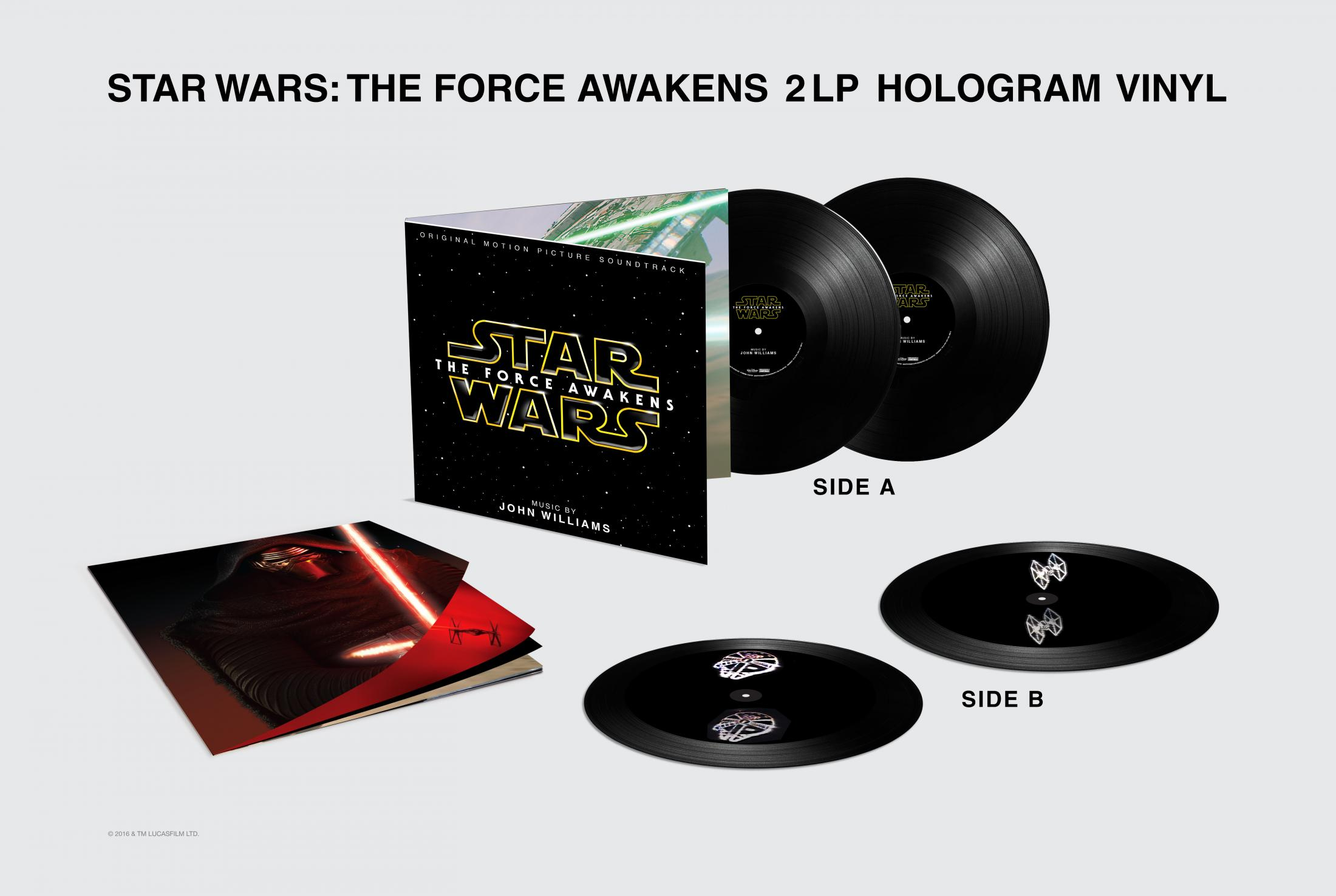 Thumbnail for Star Wars The Force Awakens 3D Hologram Vinyl