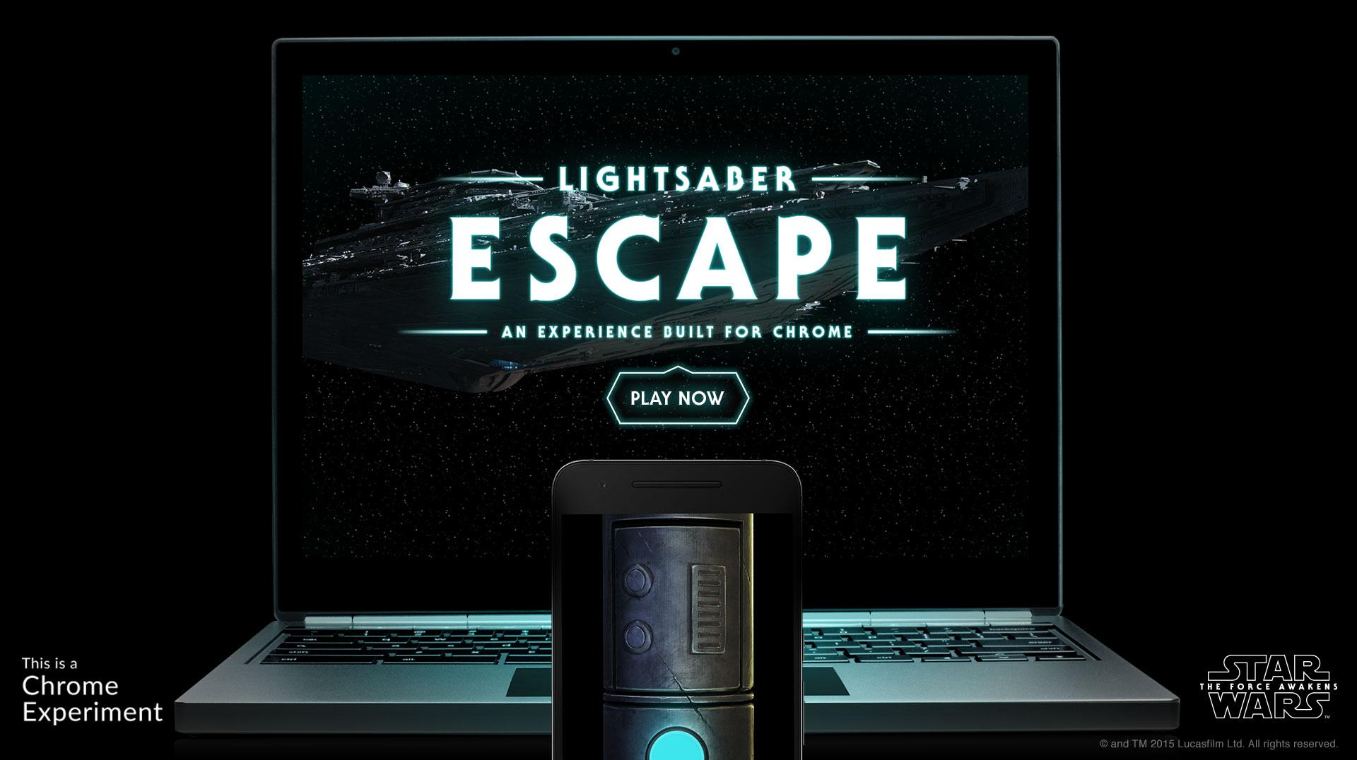 Thumbnail for Lightsaber Escape: A Chrome Experiment