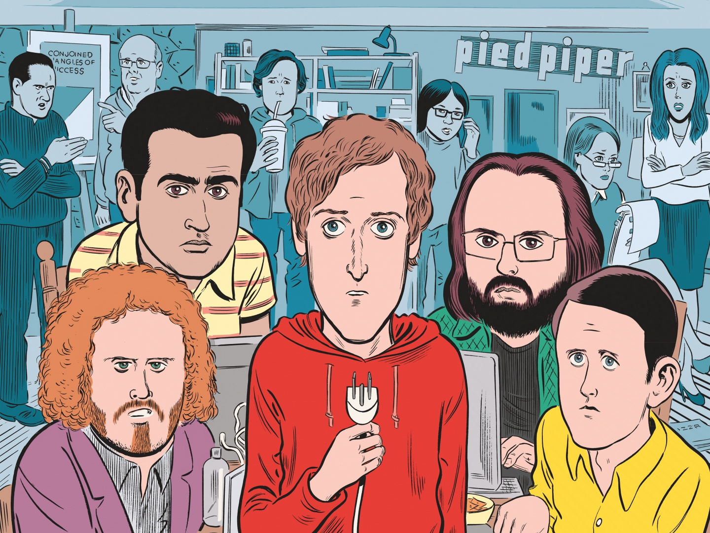 Silicon Valley Season 4 Key Art Thumbnail