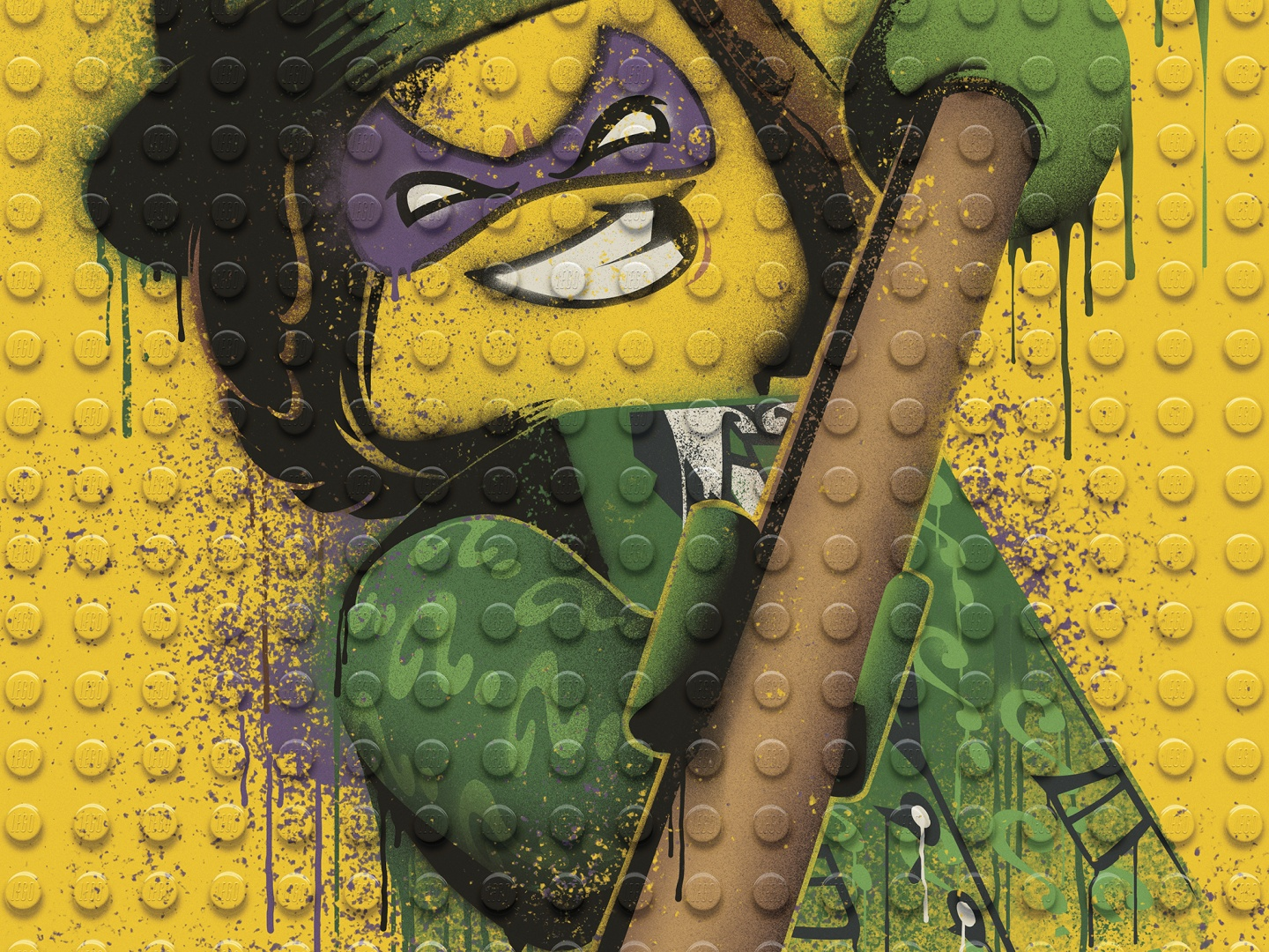 Image for The LEGO Batman Movie - Graffiti Wild Postings | Riddler