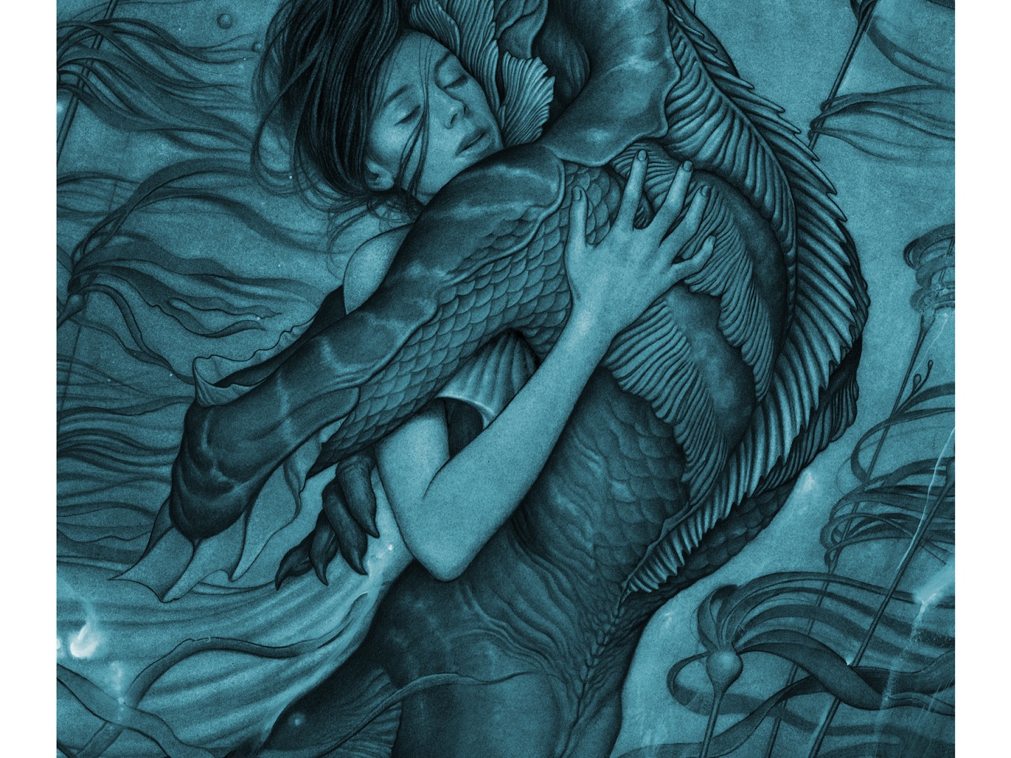 The Shape of Water Blue Art Thumbnail