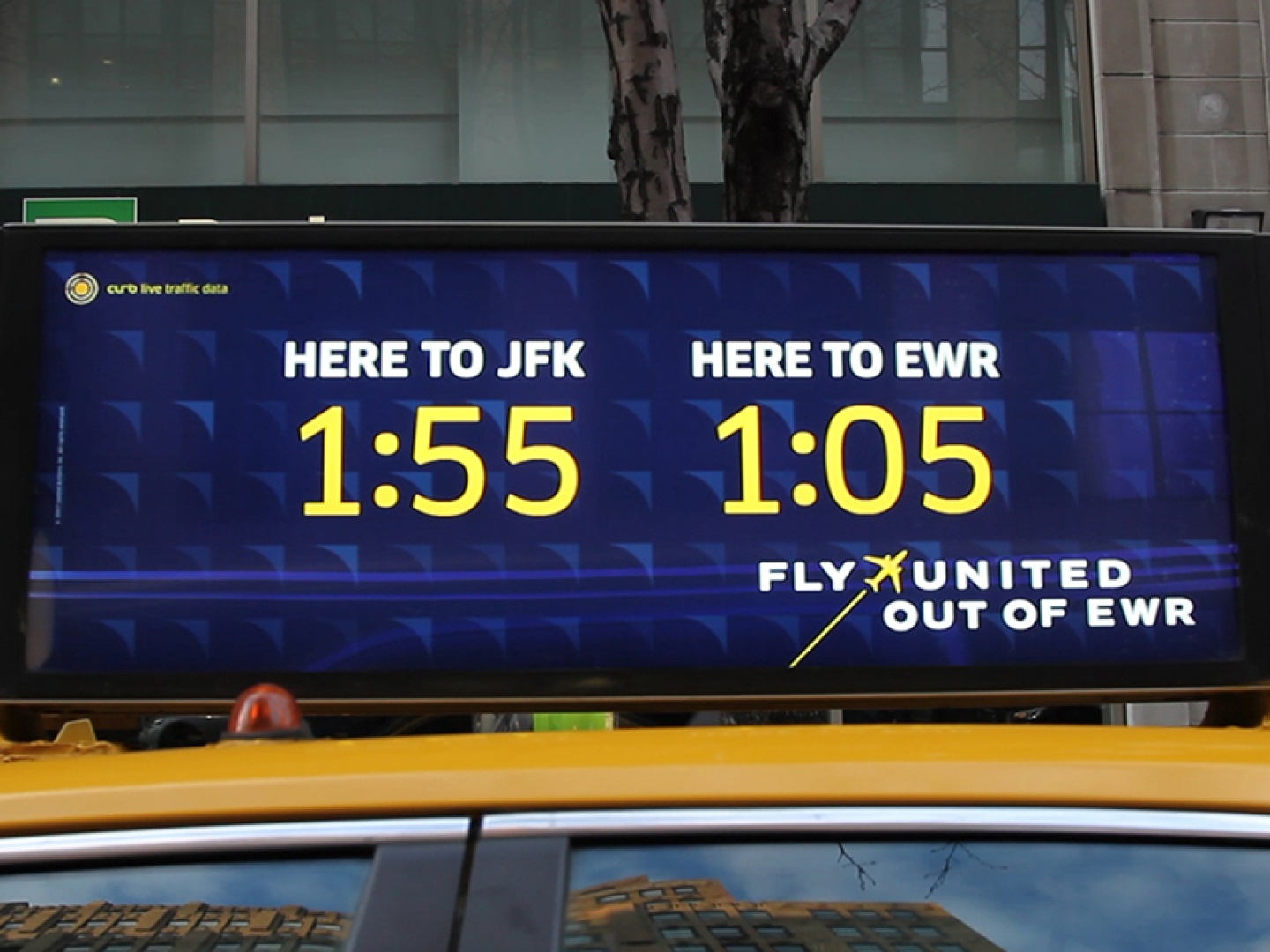 United Airlines EWR Real-Time Data Taxi Top Campaign  Thumbnail