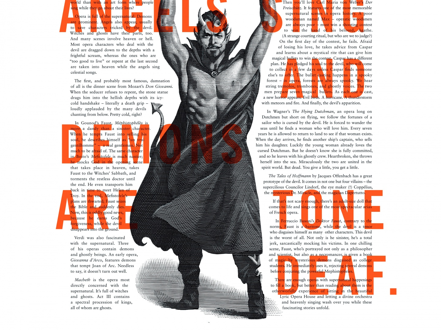 Image for Lyric Opera Print Campaign: Angels and Demons