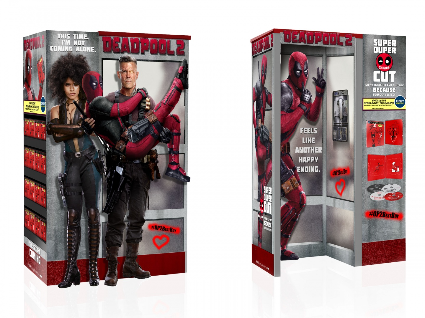 DEADPOOL 2 Home Entertainment Display: BBY WOW Phone Booth Thumbnail
