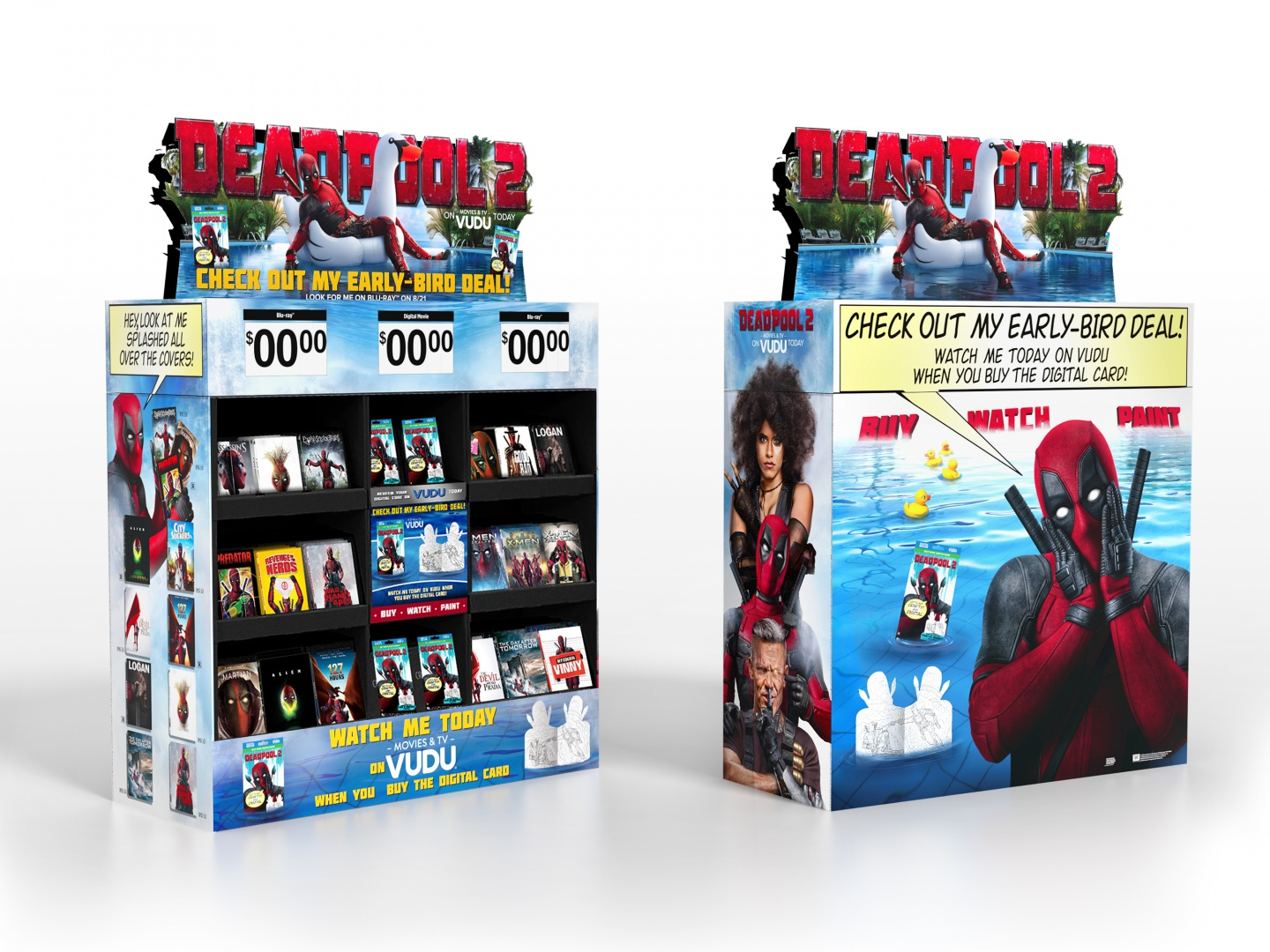 DEADPOOL 2 Home Entertainment Display: WT1 8/7 Digital Cube Thumbnail