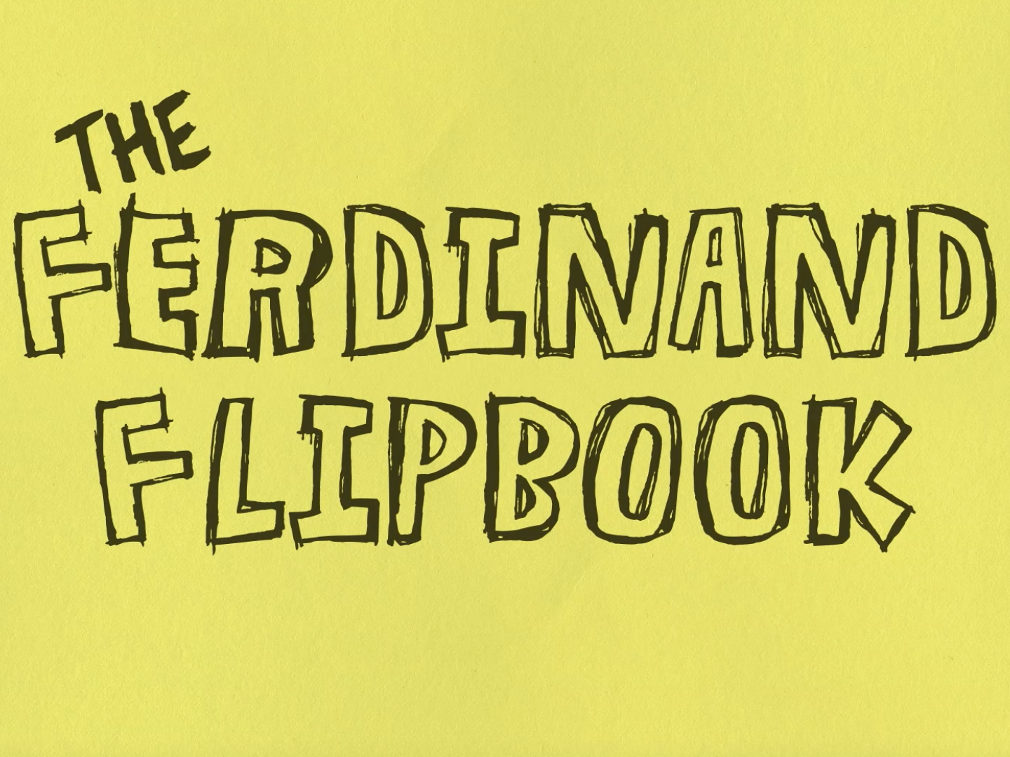 The Ferdinand Flip Book Thumbnail