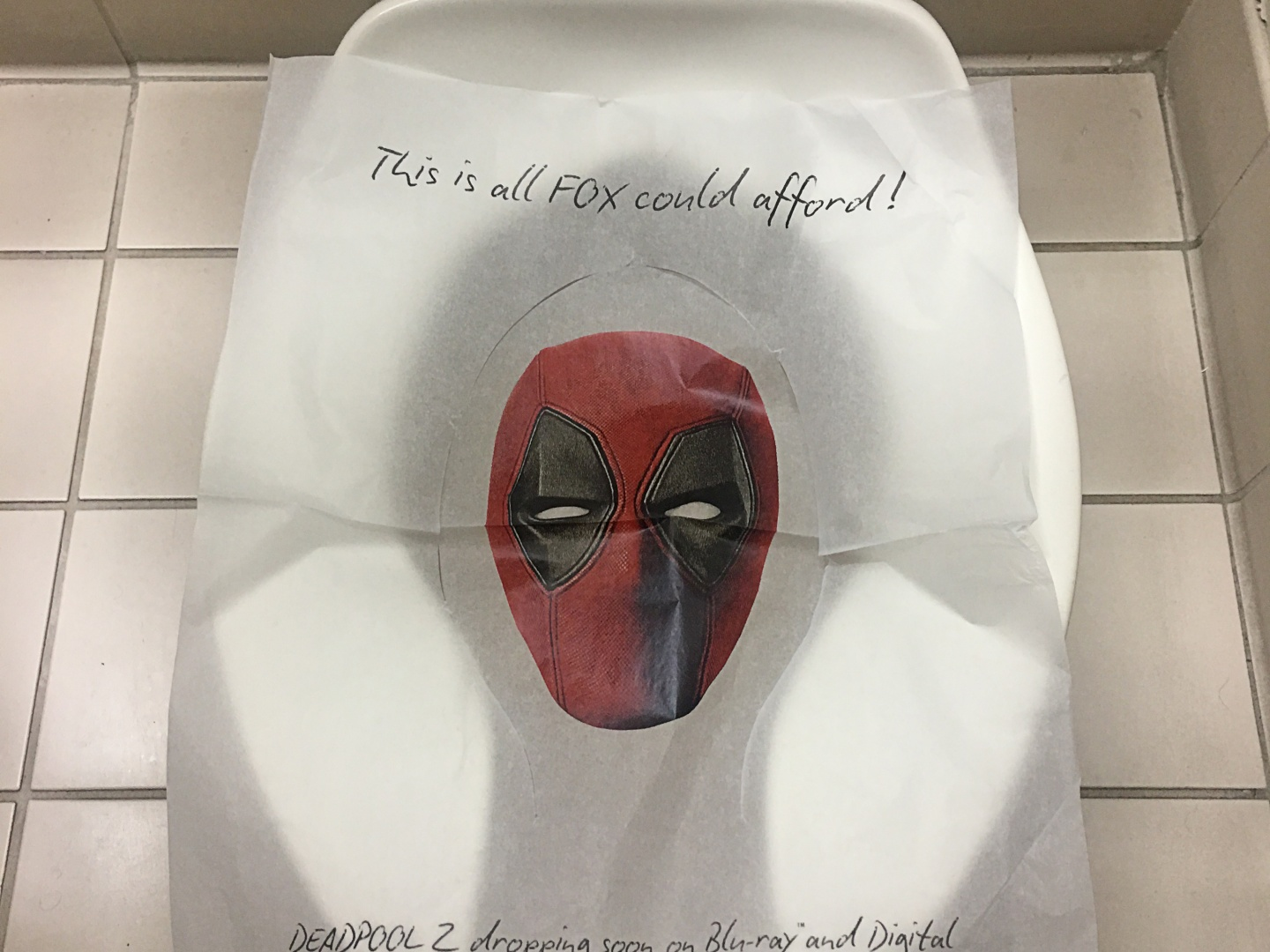Deadpool 2 Comic Con Toilet Seat Cover  Thumbnail