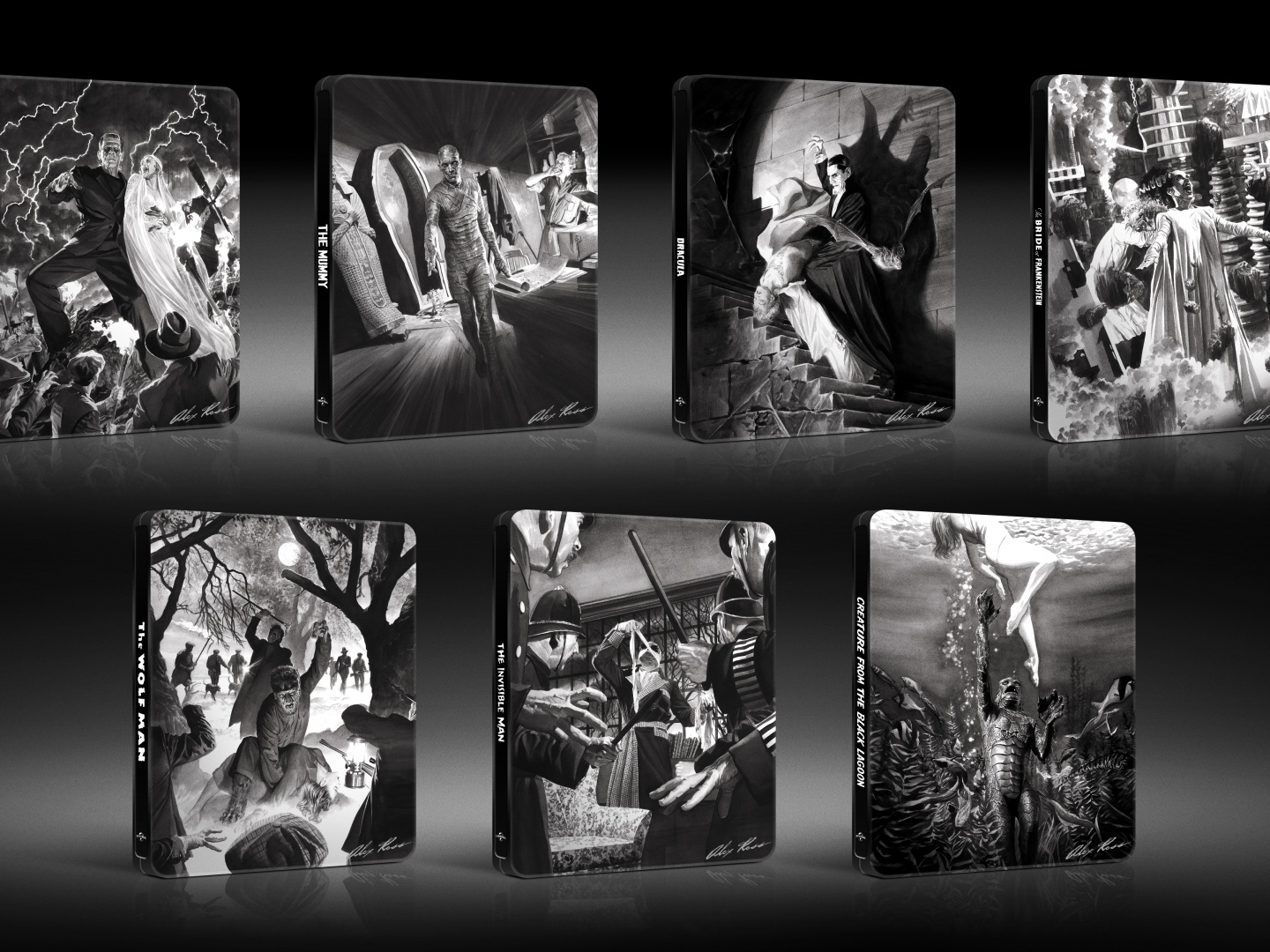 Alex Ross Classic Monsters Steelbooks Thumbnail