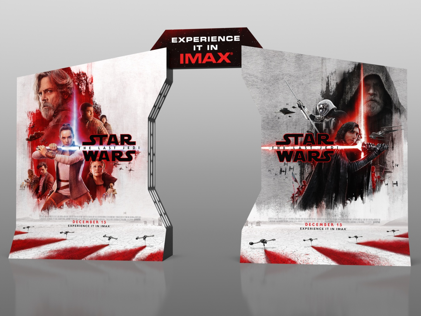 Star Wars: The Last Jedi IMAX In-Theatre Standee Thumbnail