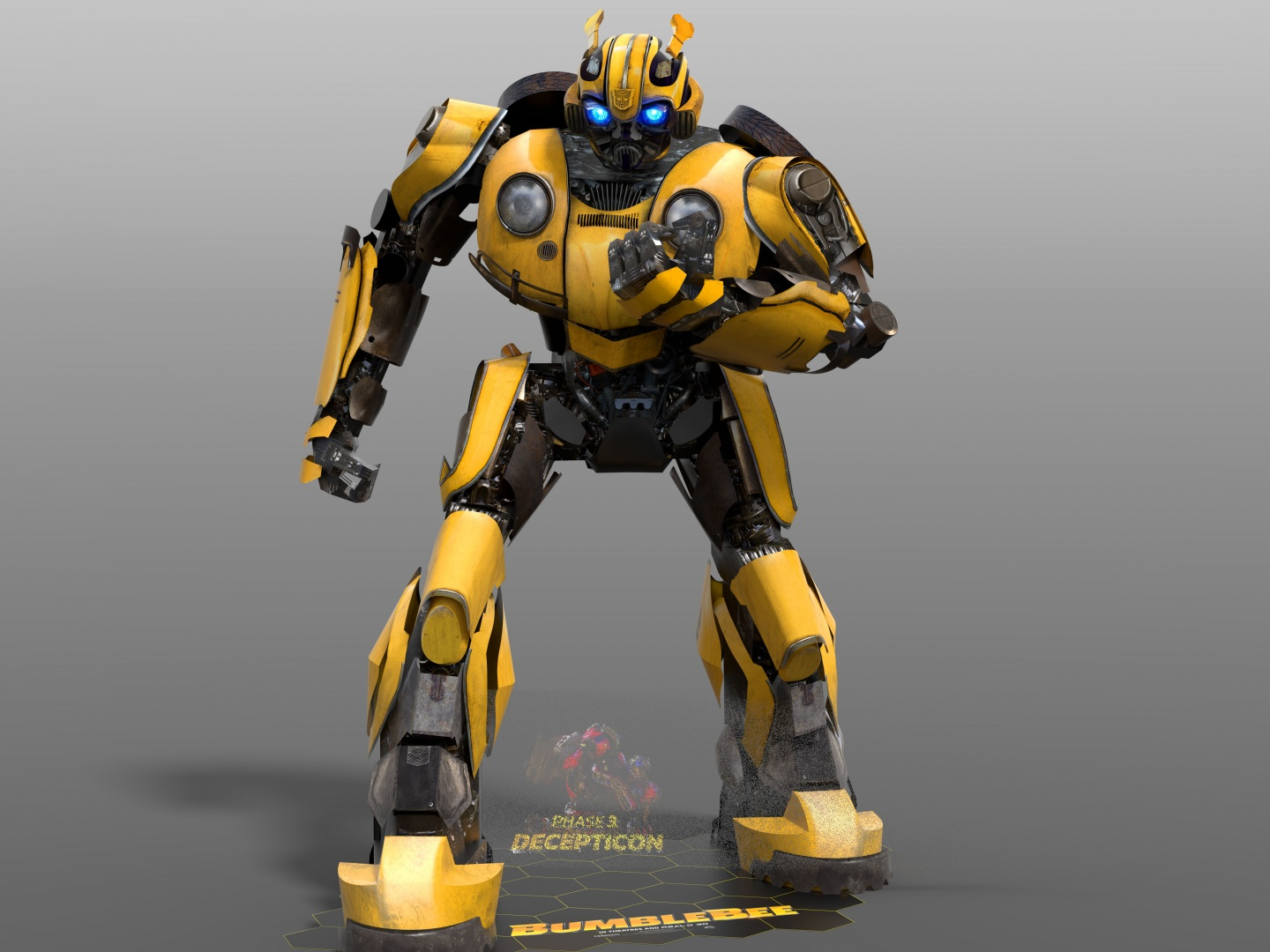 Bumblebee 3D Character Standee with Custom AV Special Effects Thumbnail