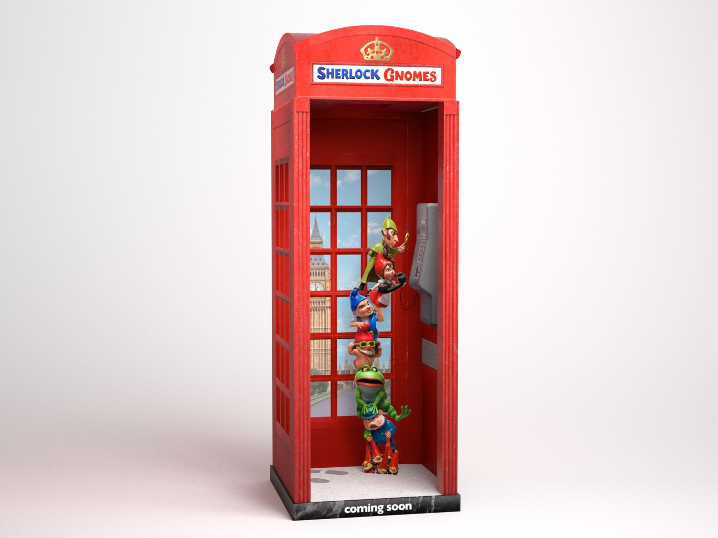 Sherlock Gnomes International Phone Booth Thumbnail