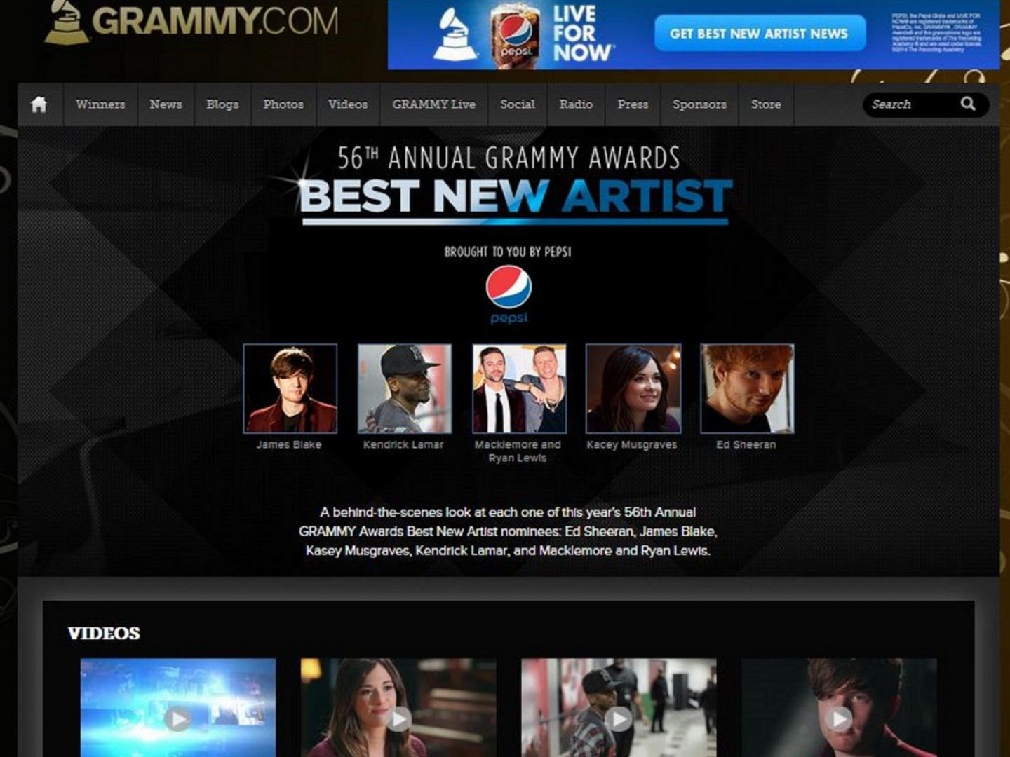 Best New Artist Series presented by Pepsi Thumbnail
