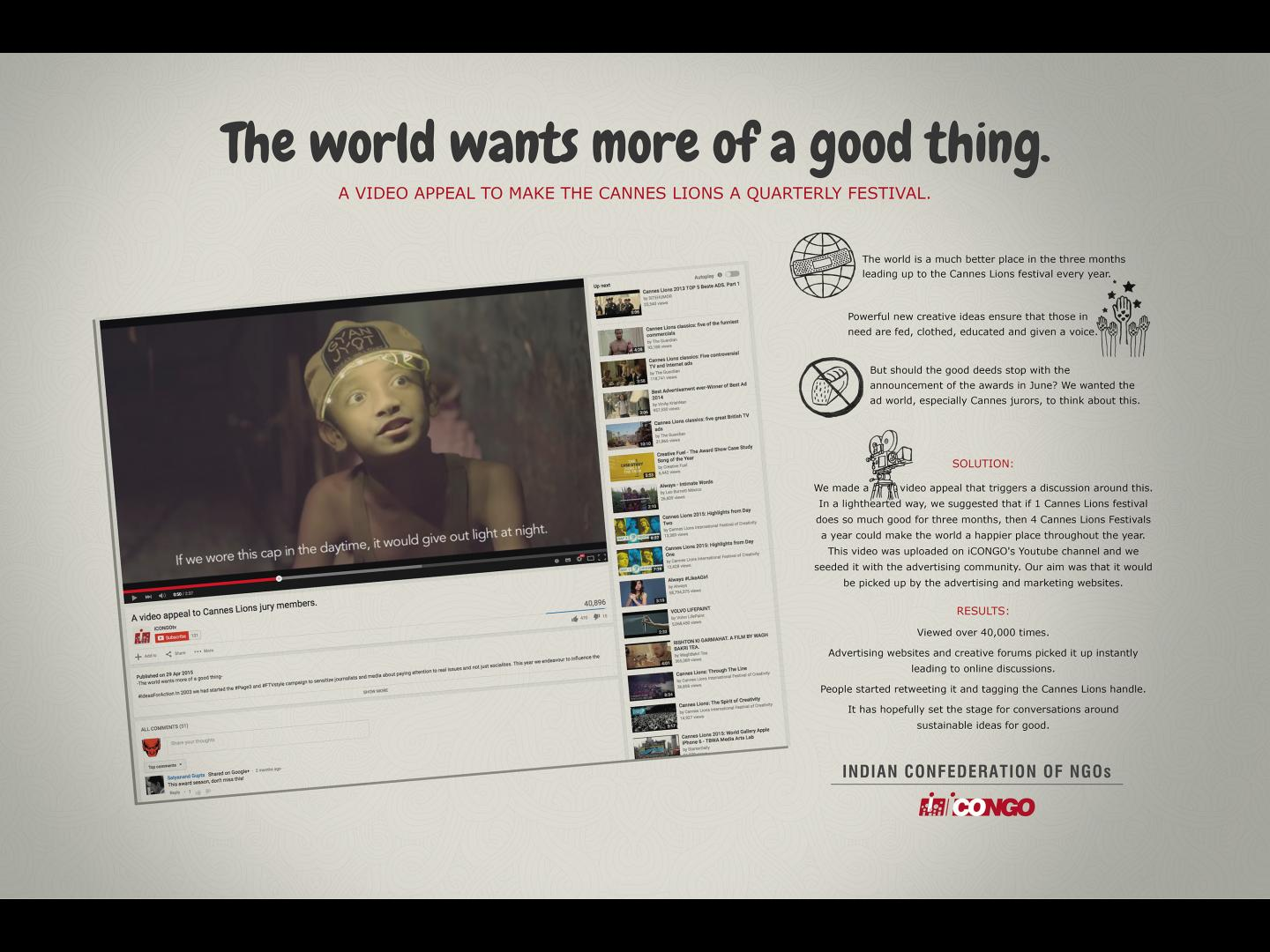 The world wants more of a good thing Thumbnail