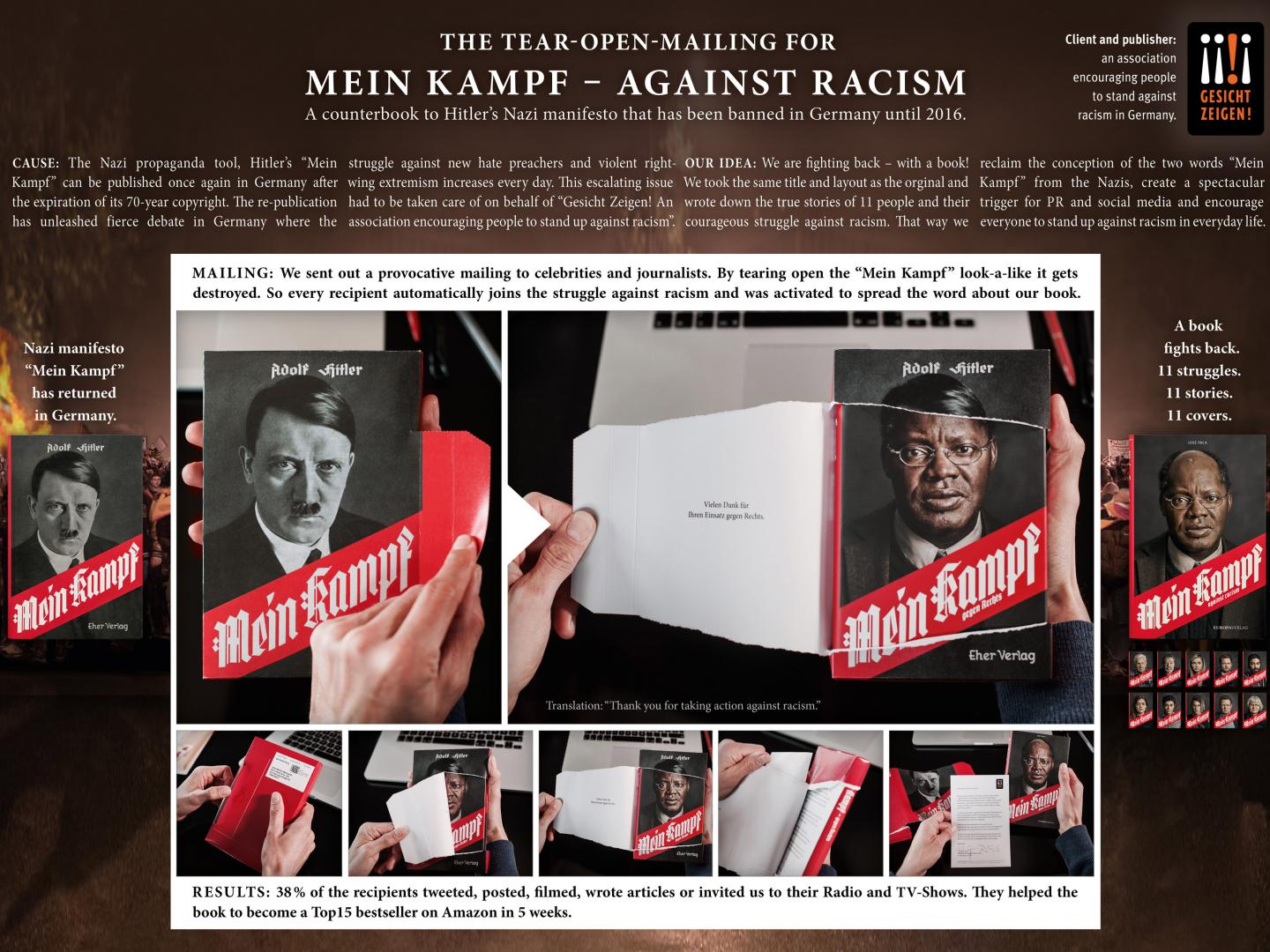 "The Tear-Open-Mailing for ""Mein Kampf – against racism"" Thumbnail"